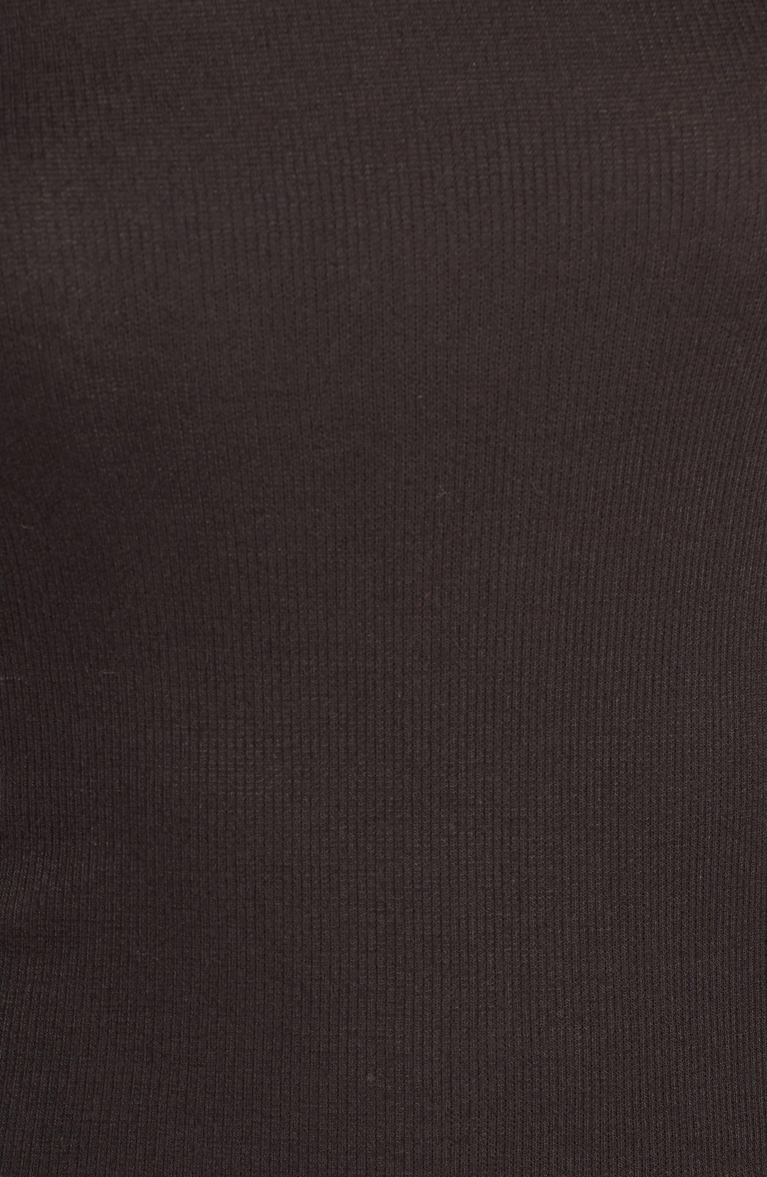 BP., Ribbed Long Sleeve Tee, Alternate thumbnail 5, color, BLACK
