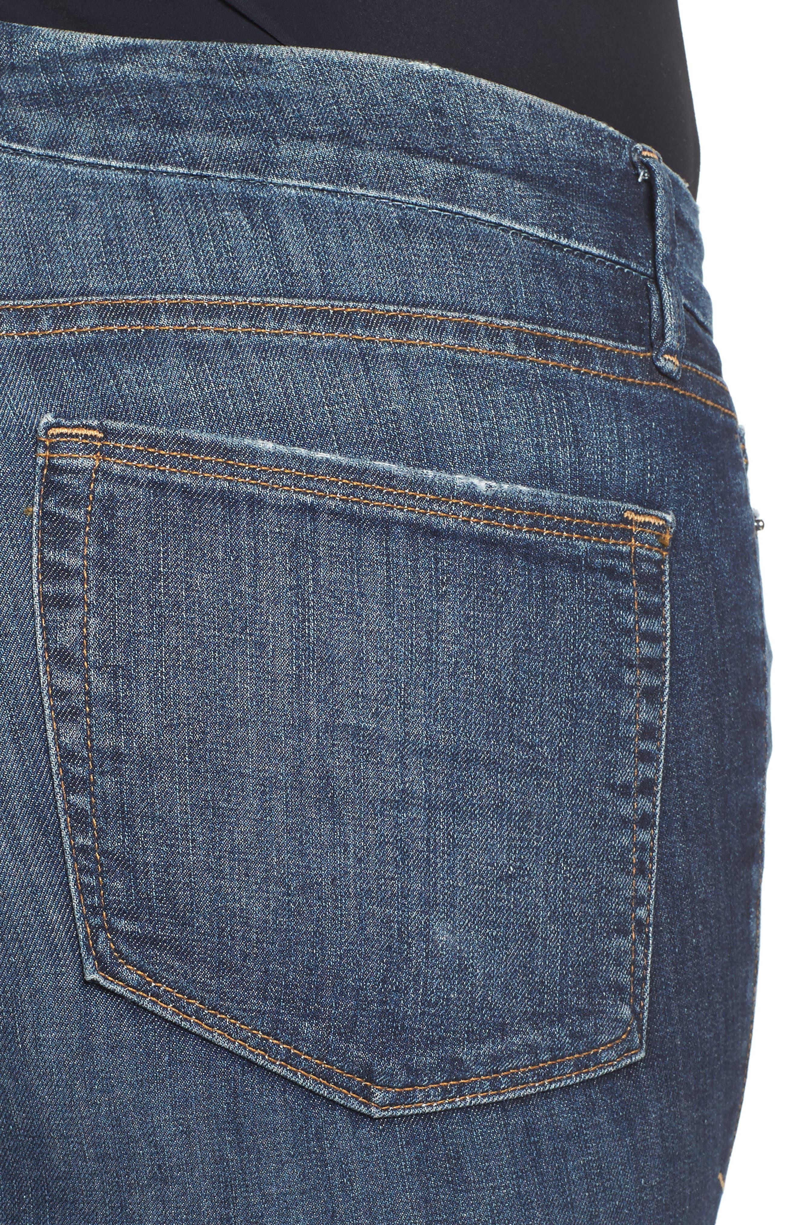 Good Legs High Rise Crop Skinny Jeans,                             Alternate thumbnail 4, color,                             401