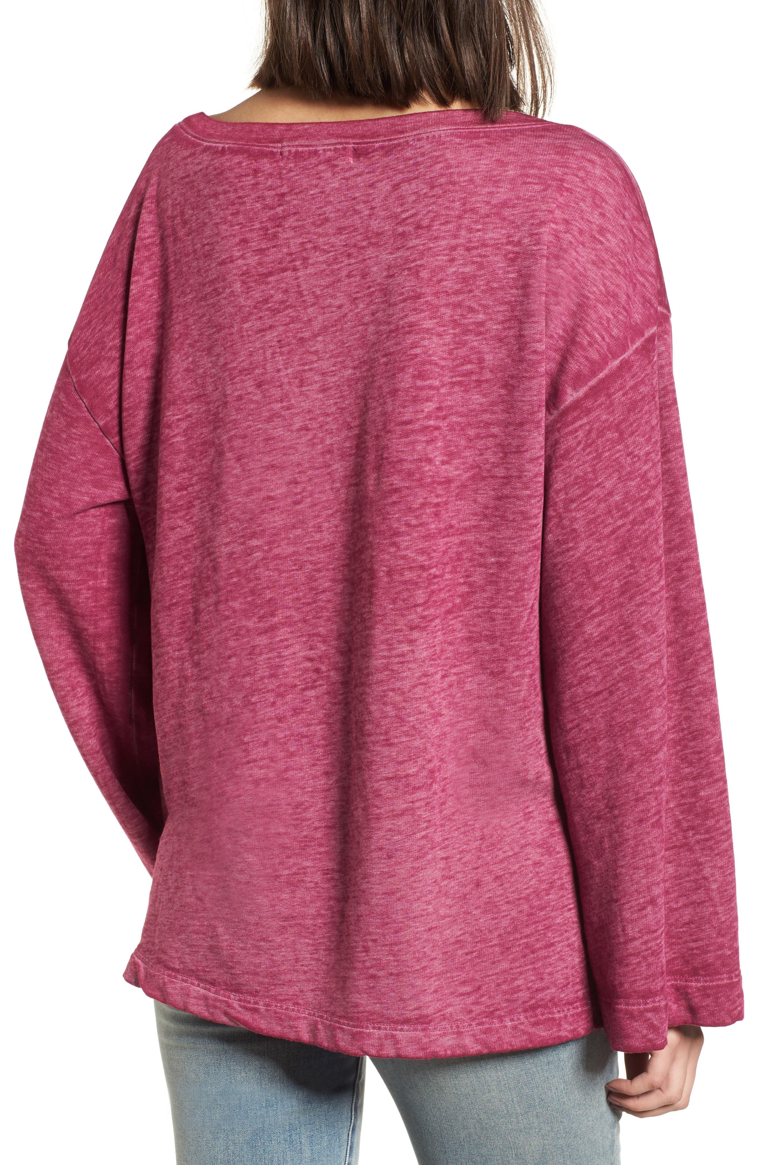 Bell Sleeve Sweatshirt,                             Alternate thumbnail 9, color,