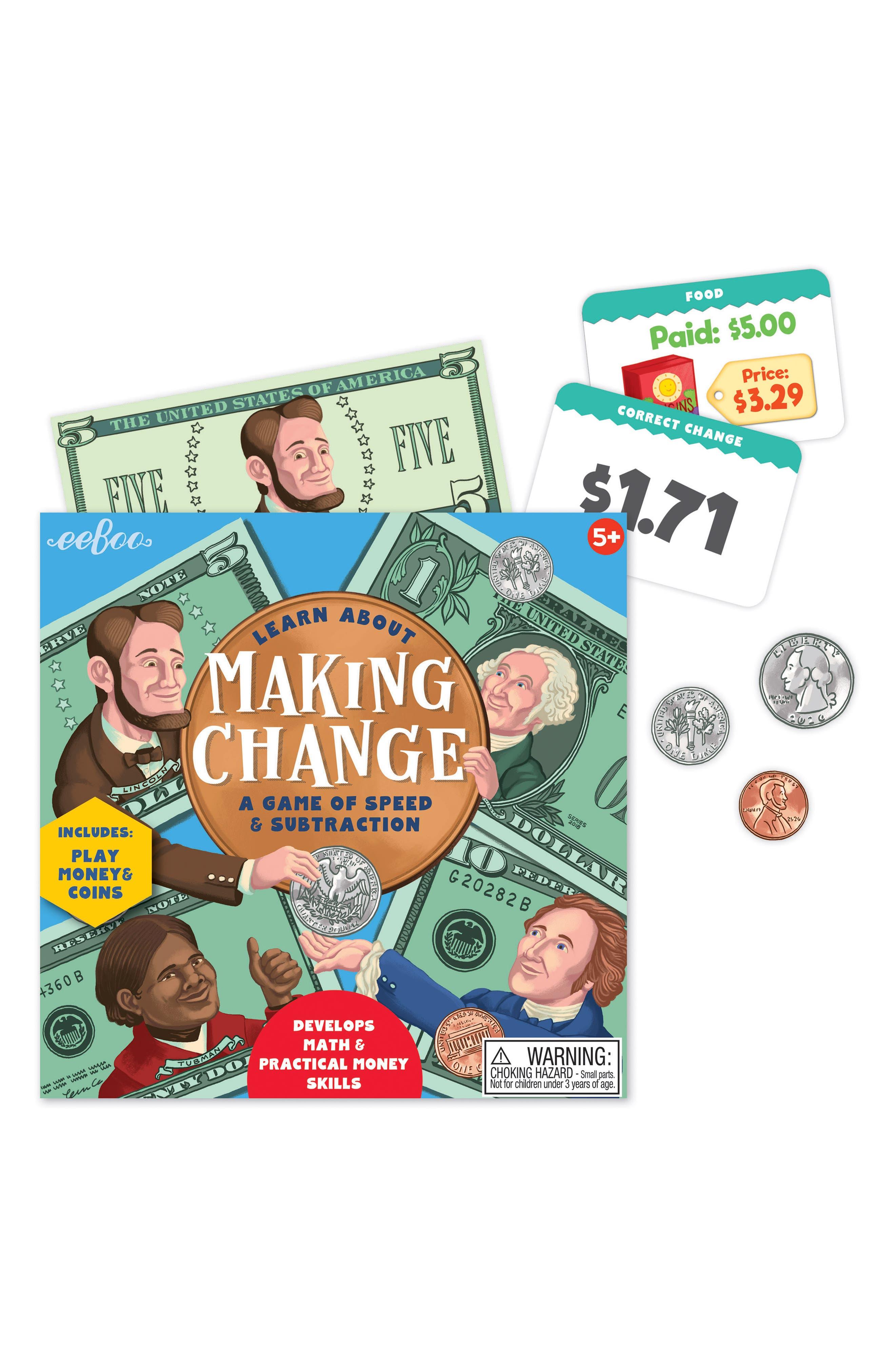 Making Change Game,                             Alternate thumbnail 2, color,                             GREEN