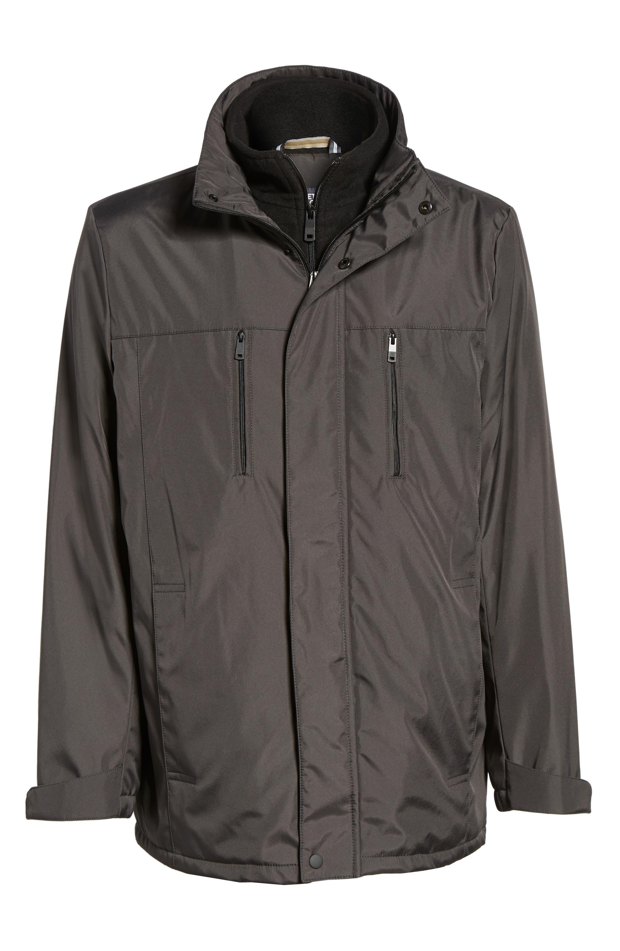 Hooded Jacket with Inset Fleece Bib,                             Alternate thumbnail 18, color,