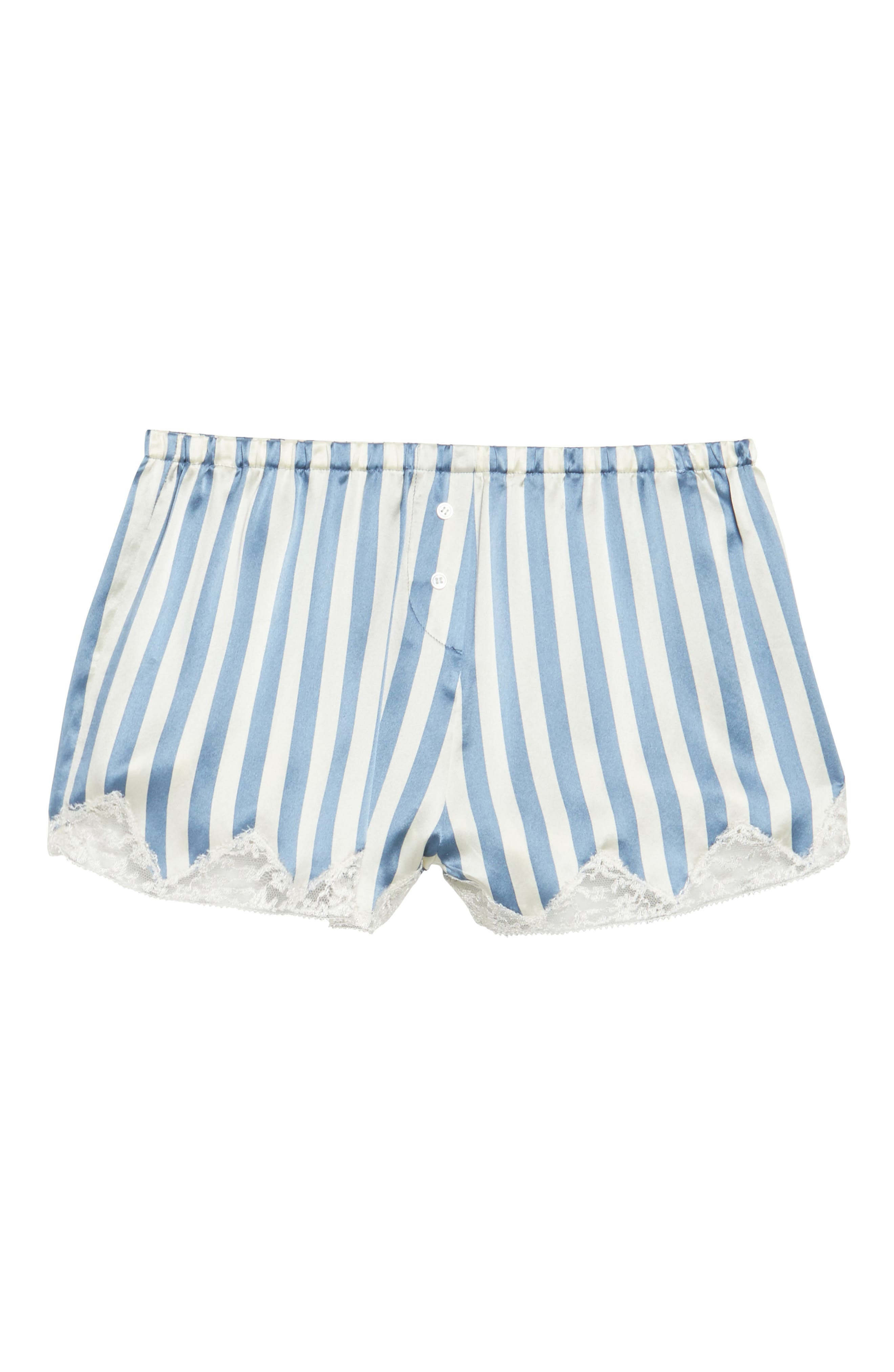 Josephine Silk Stripe Shorts,                             Alternate thumbnail 6, color,