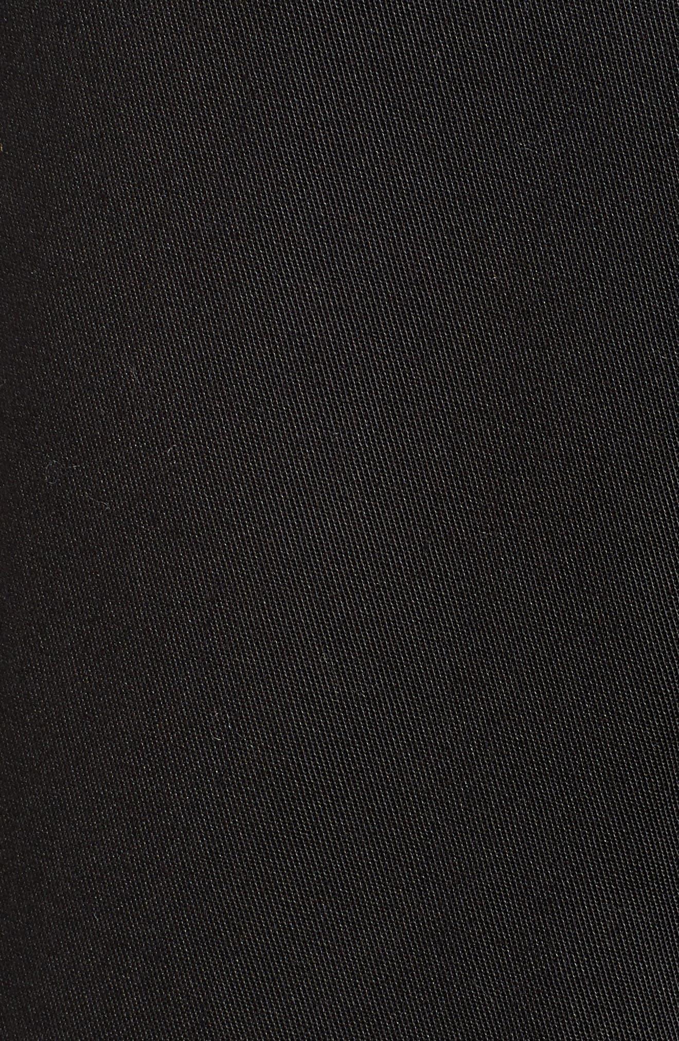 Tie Front Shorts,                             Alternate thumbnail 6, color,                             BLACK