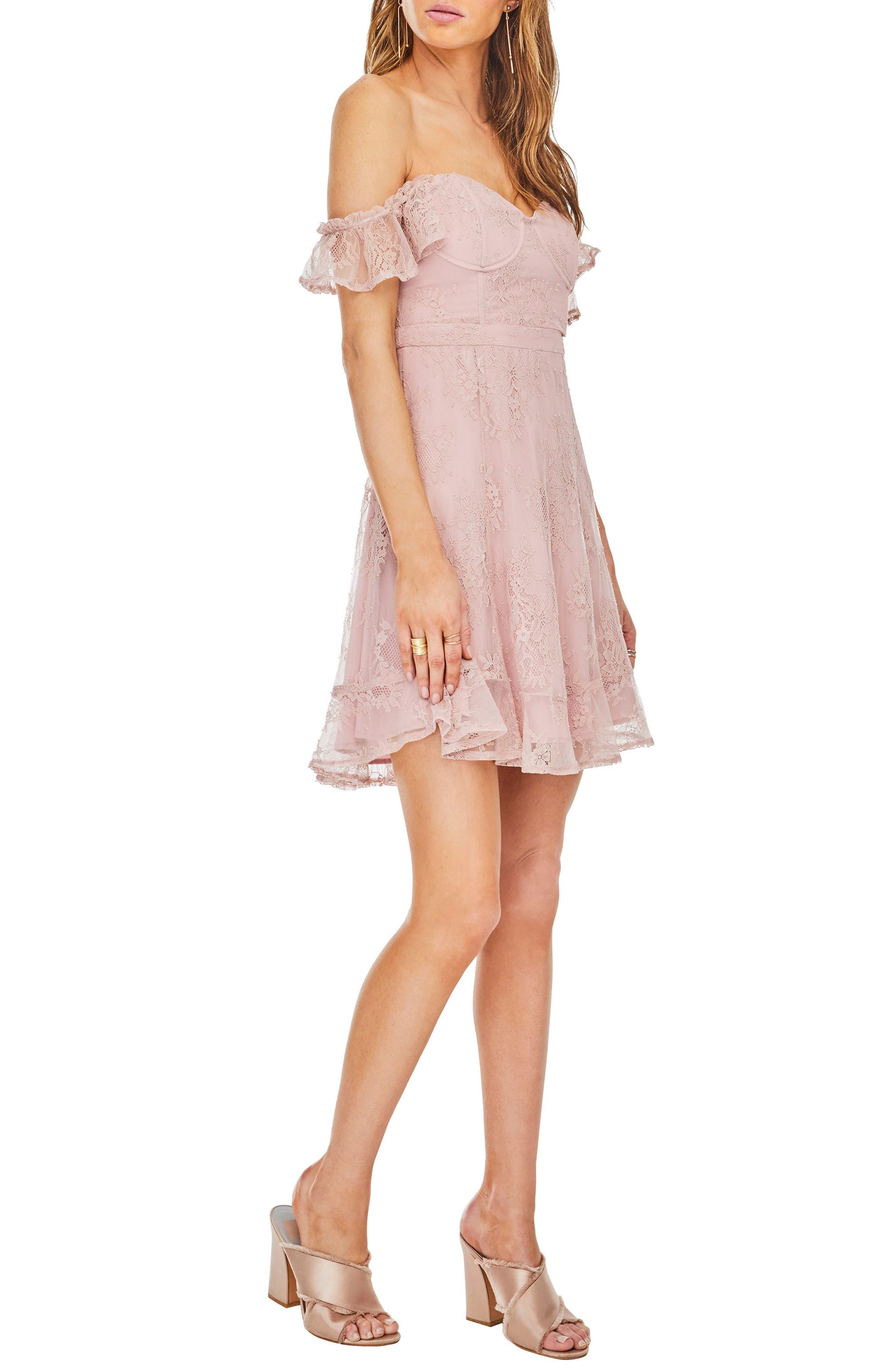 Poppy Off the Shoulder Dress,                             Alternate thumbnail 3, color,                             650