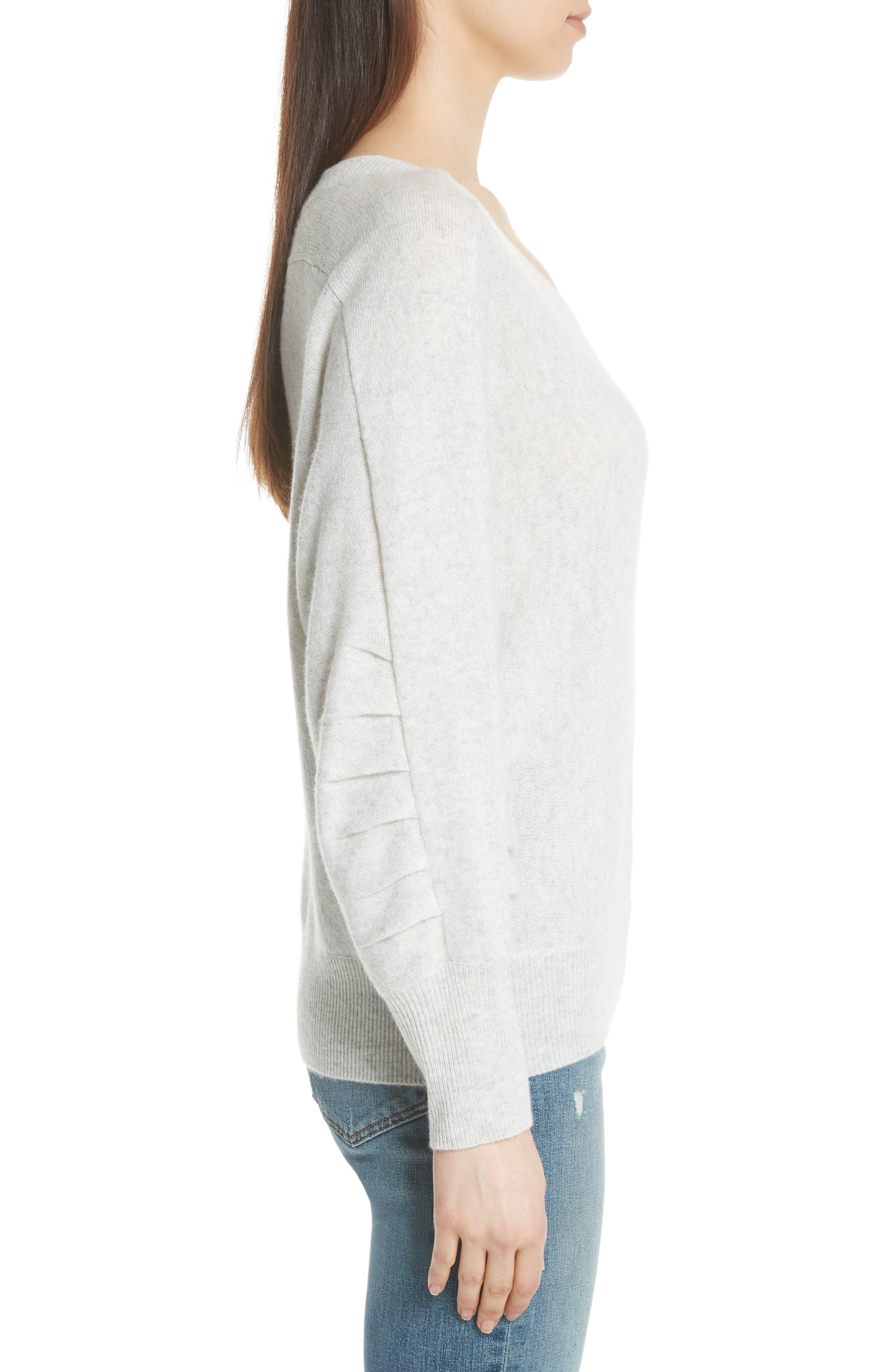 Weller Cashmere Sweater,                             Alternate thumbnail 3, color,                             100