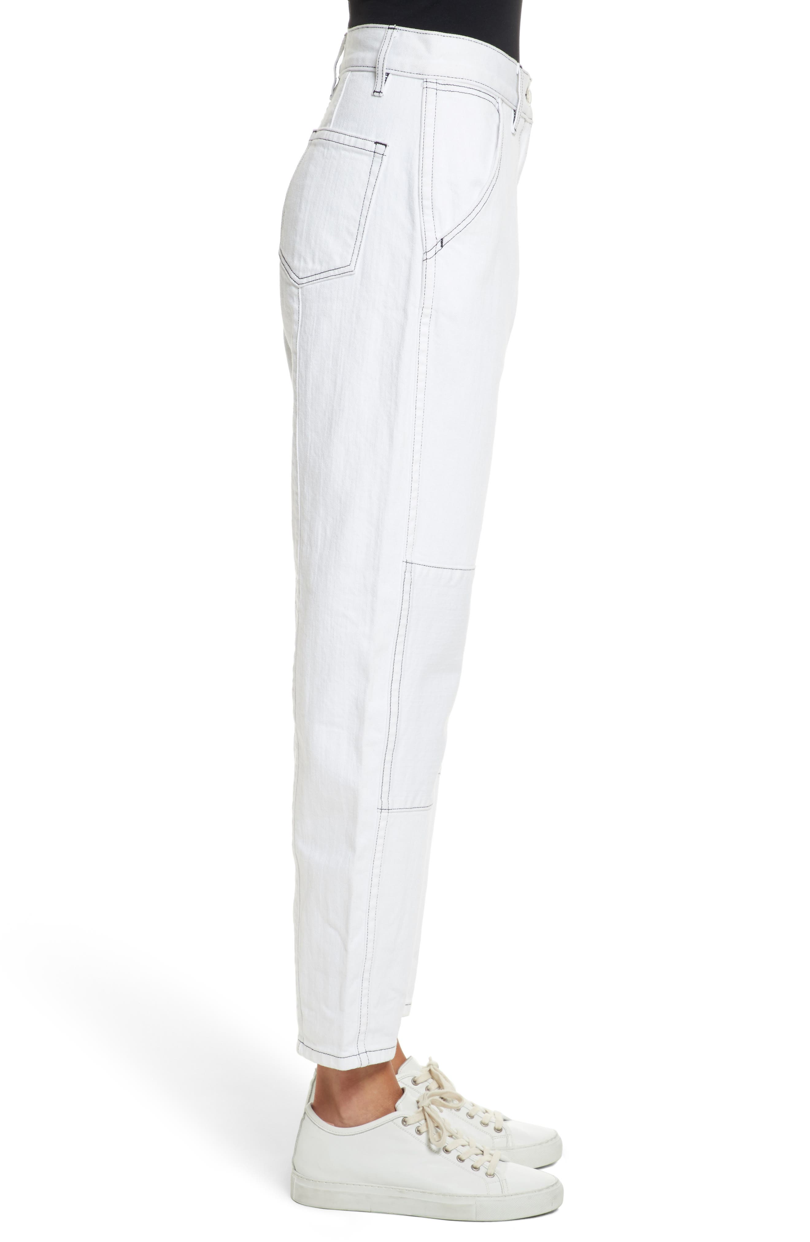 Pamela Ankle Jeans,                             Alternate thumbnail 3, color,                             100