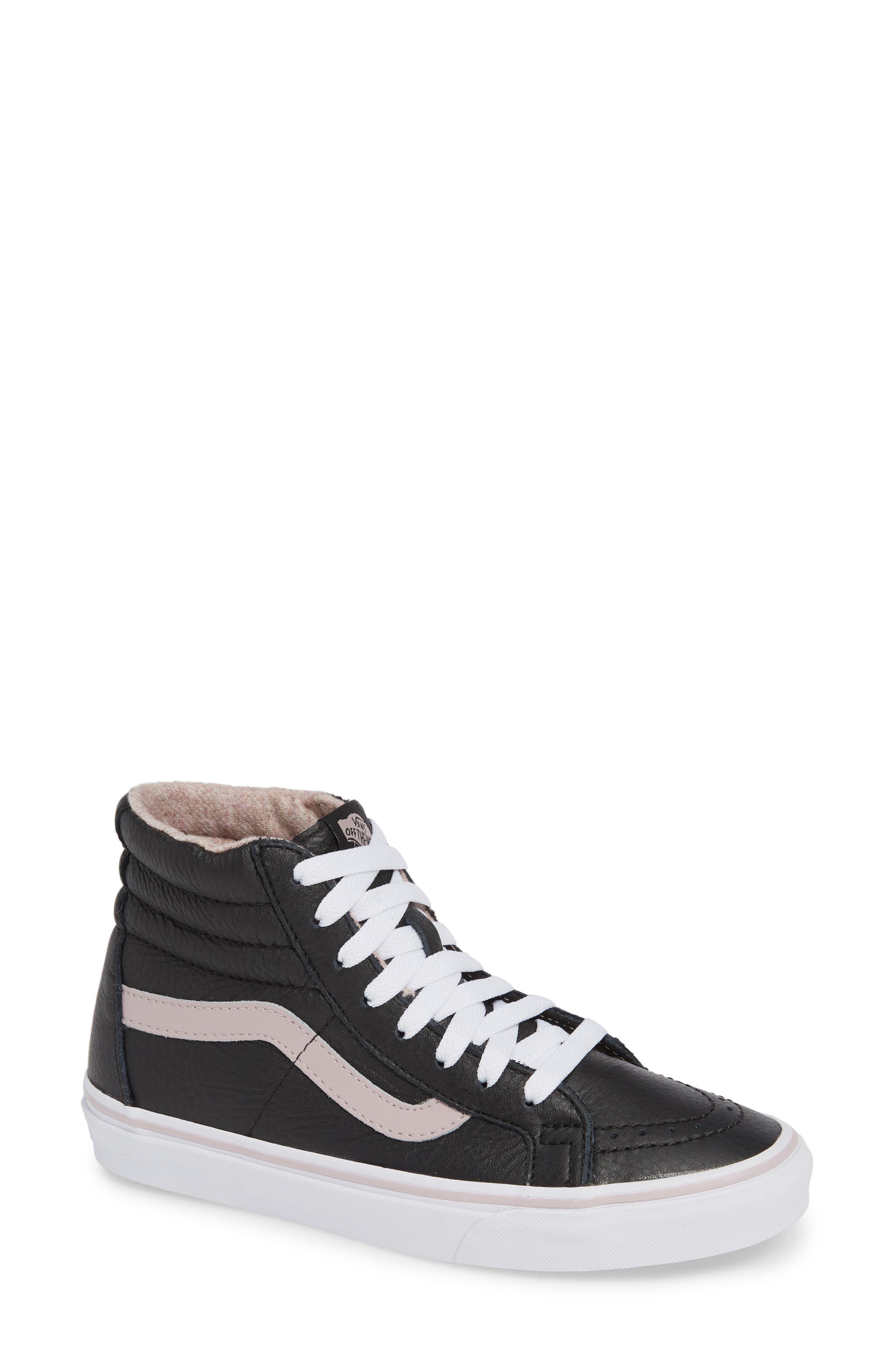 VANS,                             Sk8-Hi Reissue Sneaker,                             Main thumbnail 1, color,                             001