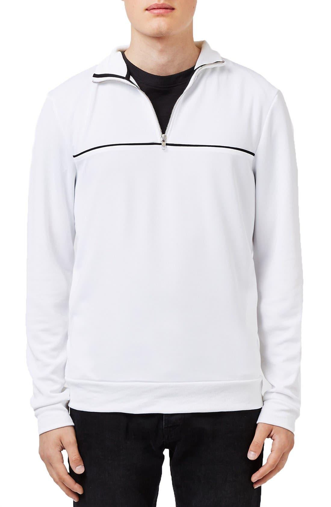 Quarter Zip Track Jacket, Main, color, 100