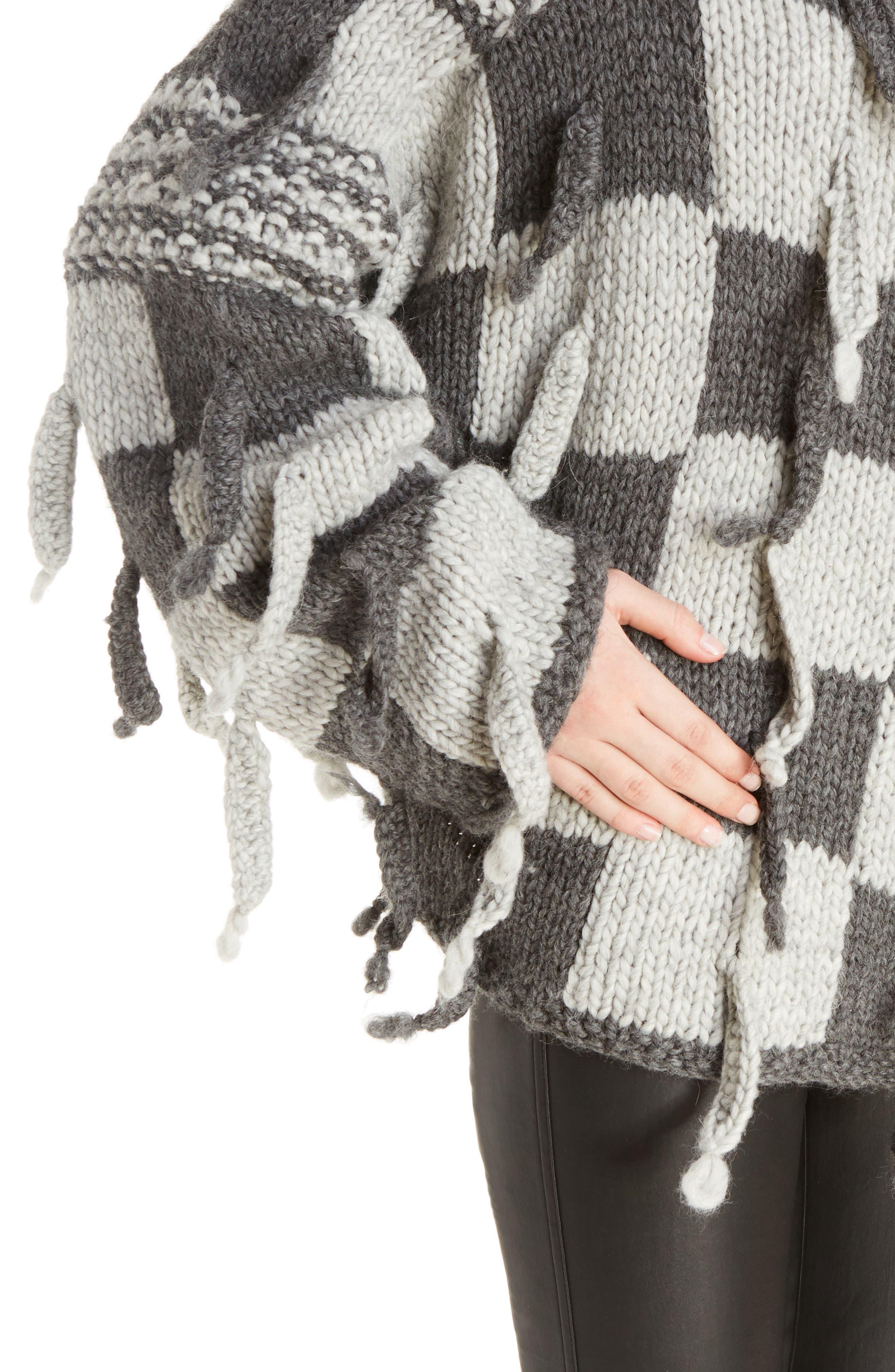 Chunky Knit Wool & Alpaca Sweater,                             Alternate thumbnail 4, color,                             023