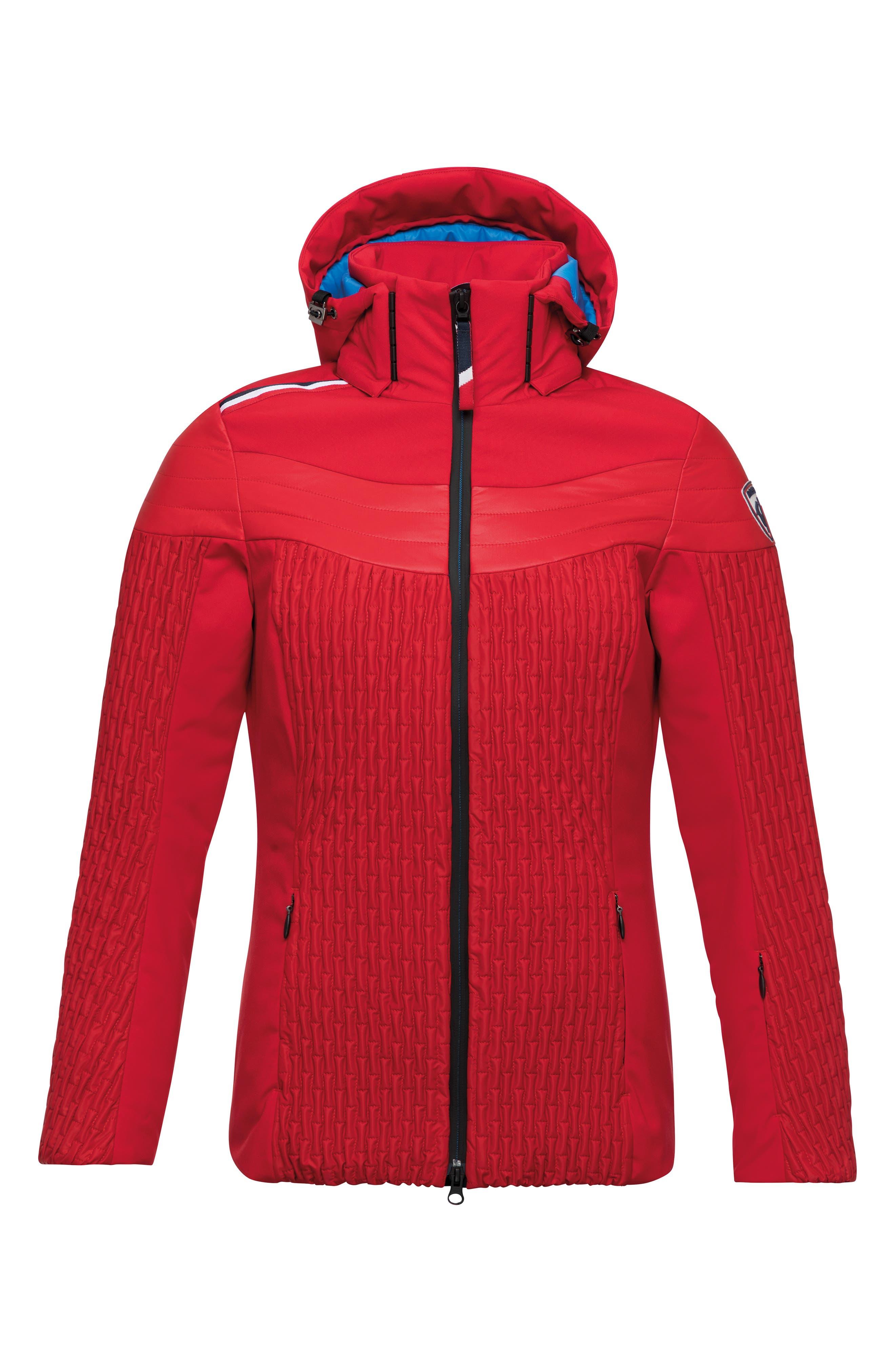 Cinetic Waterproof Hooded Ski Jacket,                             Main thumbnail 1, color,                             RED
