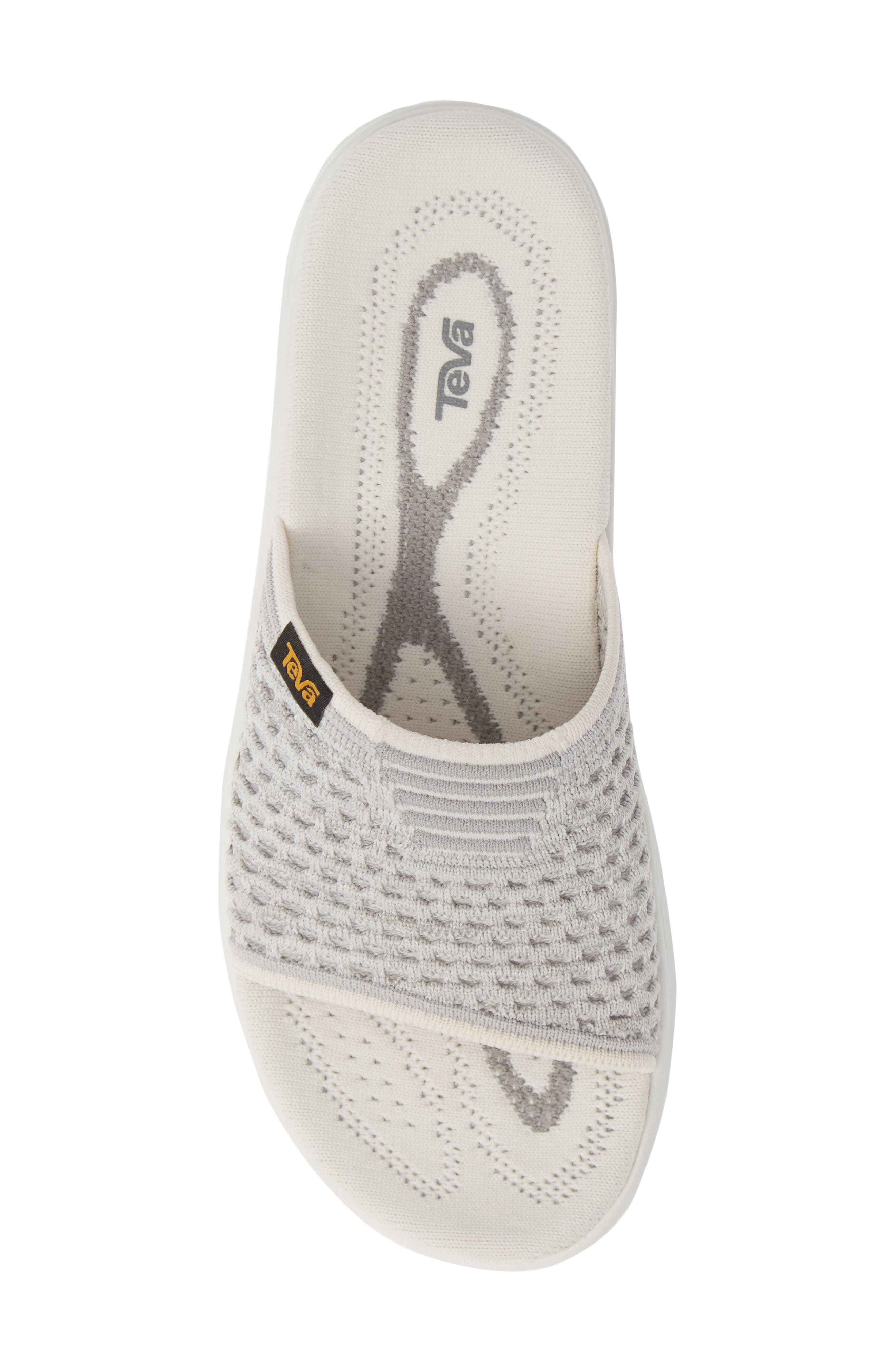 Terra Float 2 Knit Slide Sandal,                             Alternate thumbnail 5, color,                             BRIGHT WHITE FABRIC