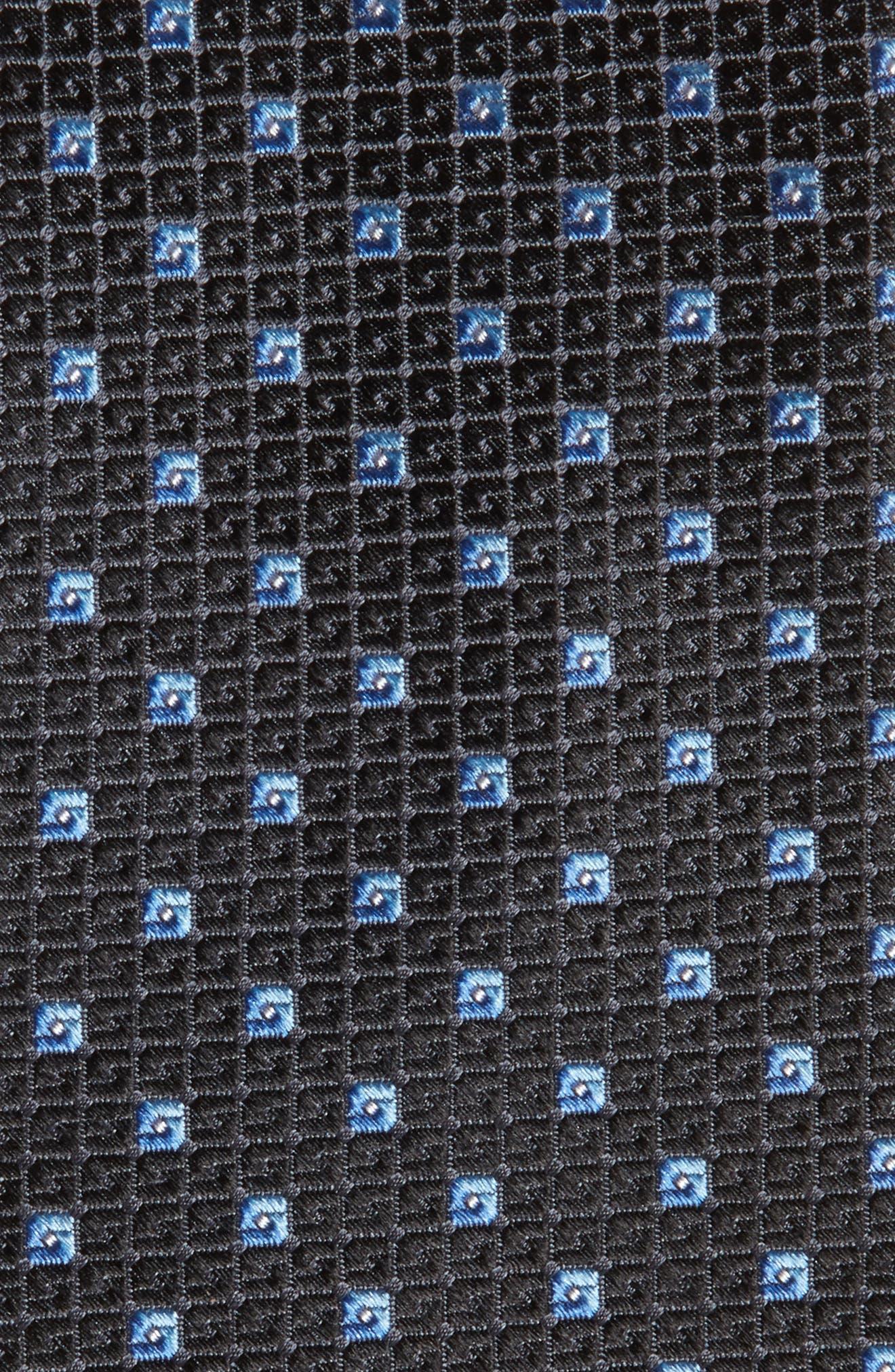 Mauro Neat Silk Tie,                             Alternate thumbnail 2, color,                             BLACK