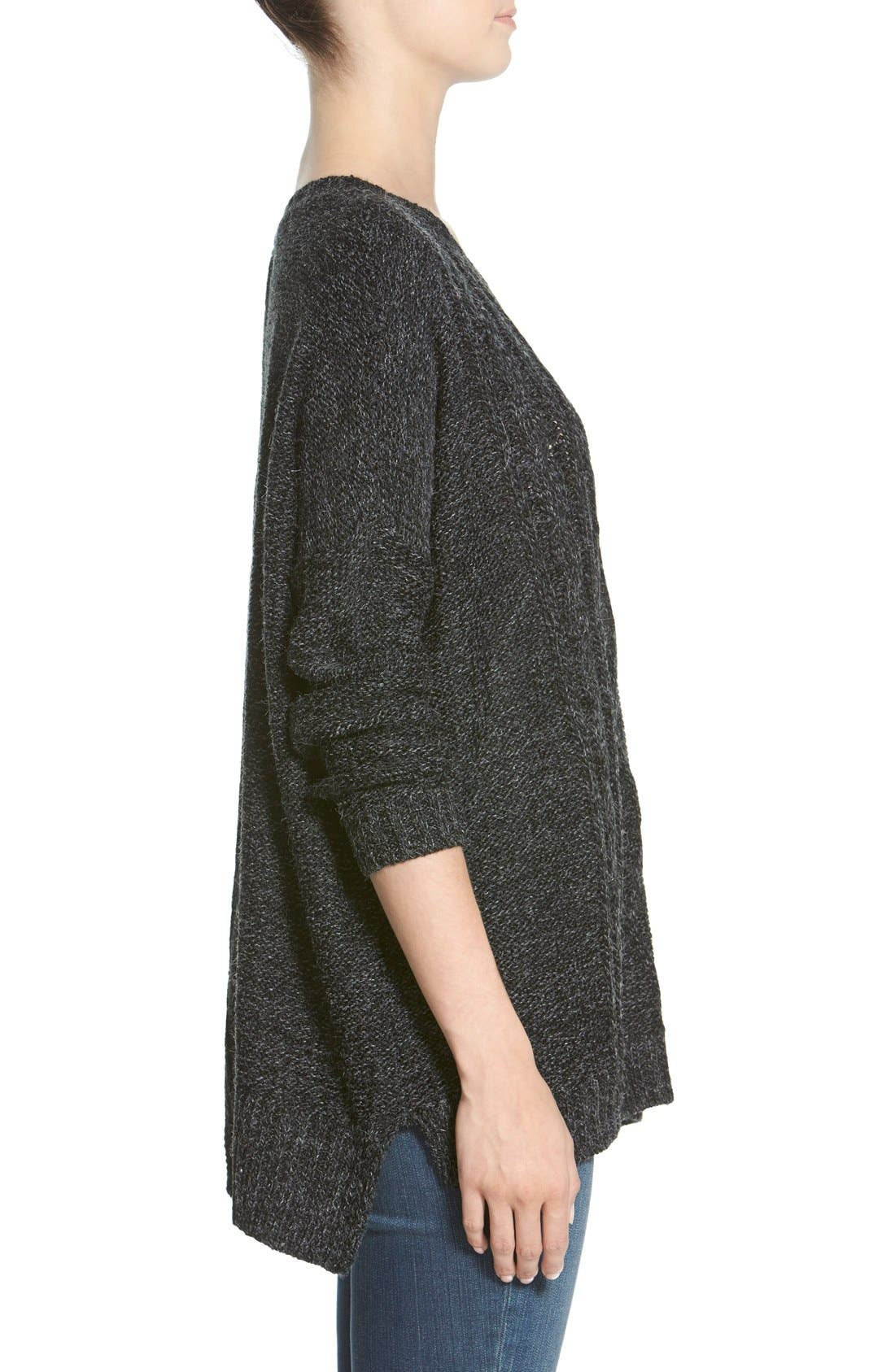 Cable Knit Sweater,                             Alternate thumbnail 4, color,                             020