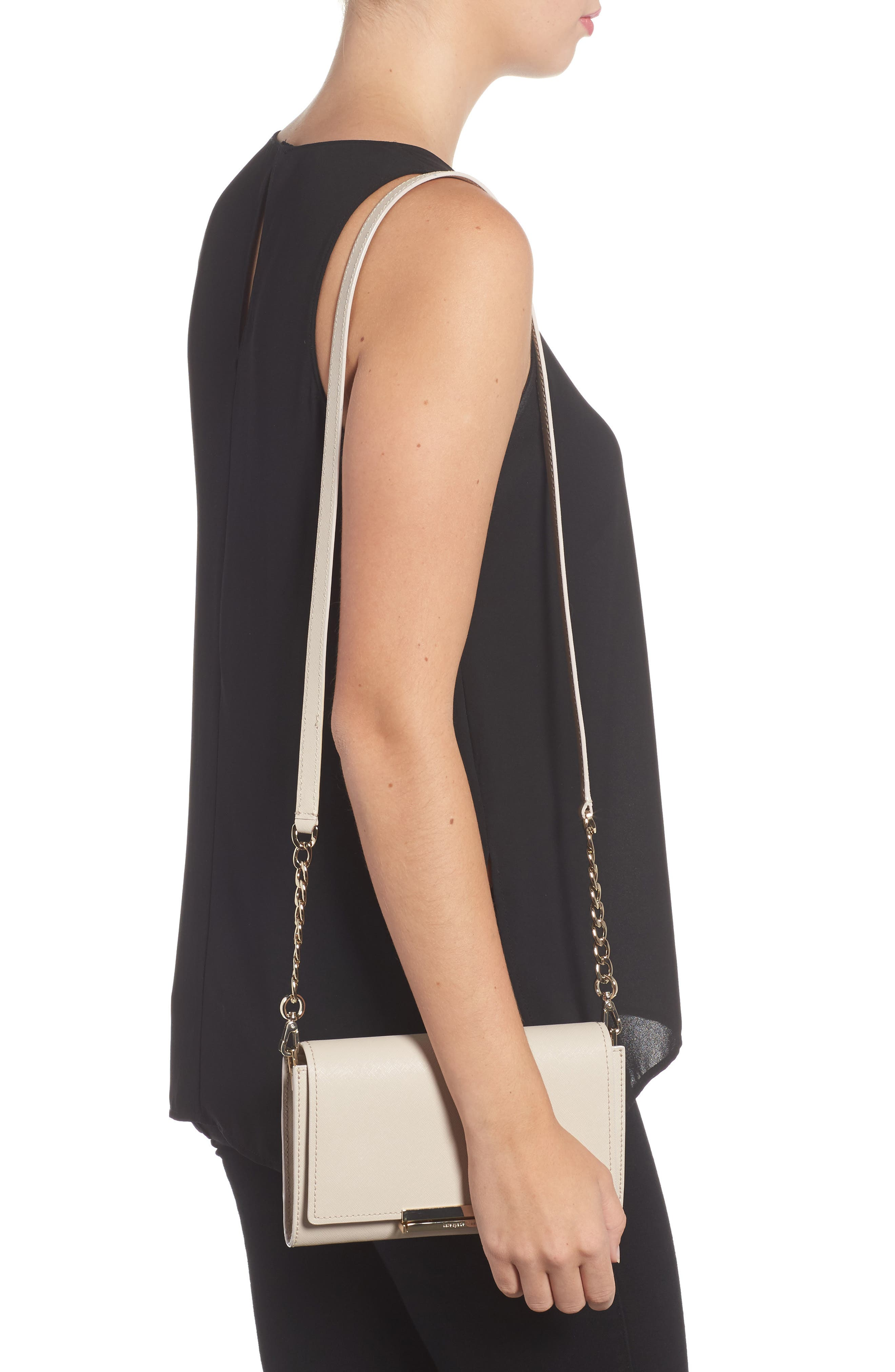 make it mine - camila leather clutch,                             Alternate thumbnail 4, color,