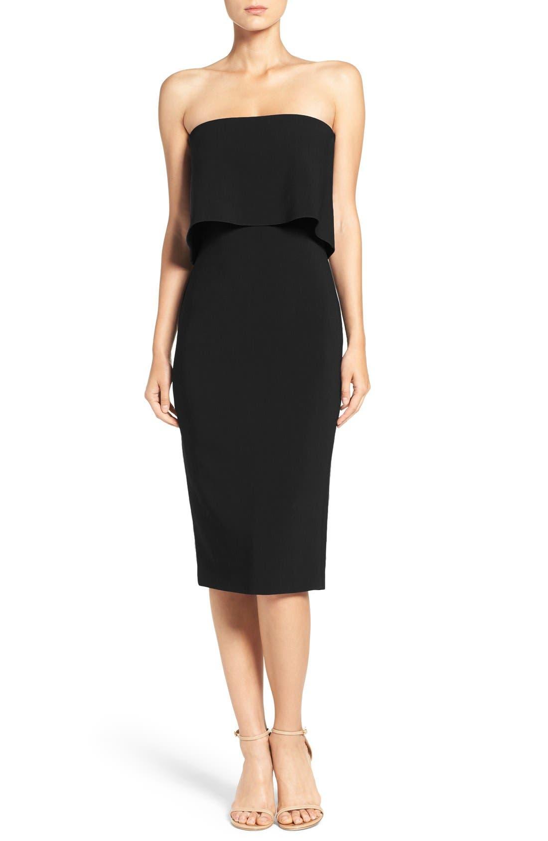 'Driggs' Strapless Popover Sheath Dress,                         Main,                         color, 001