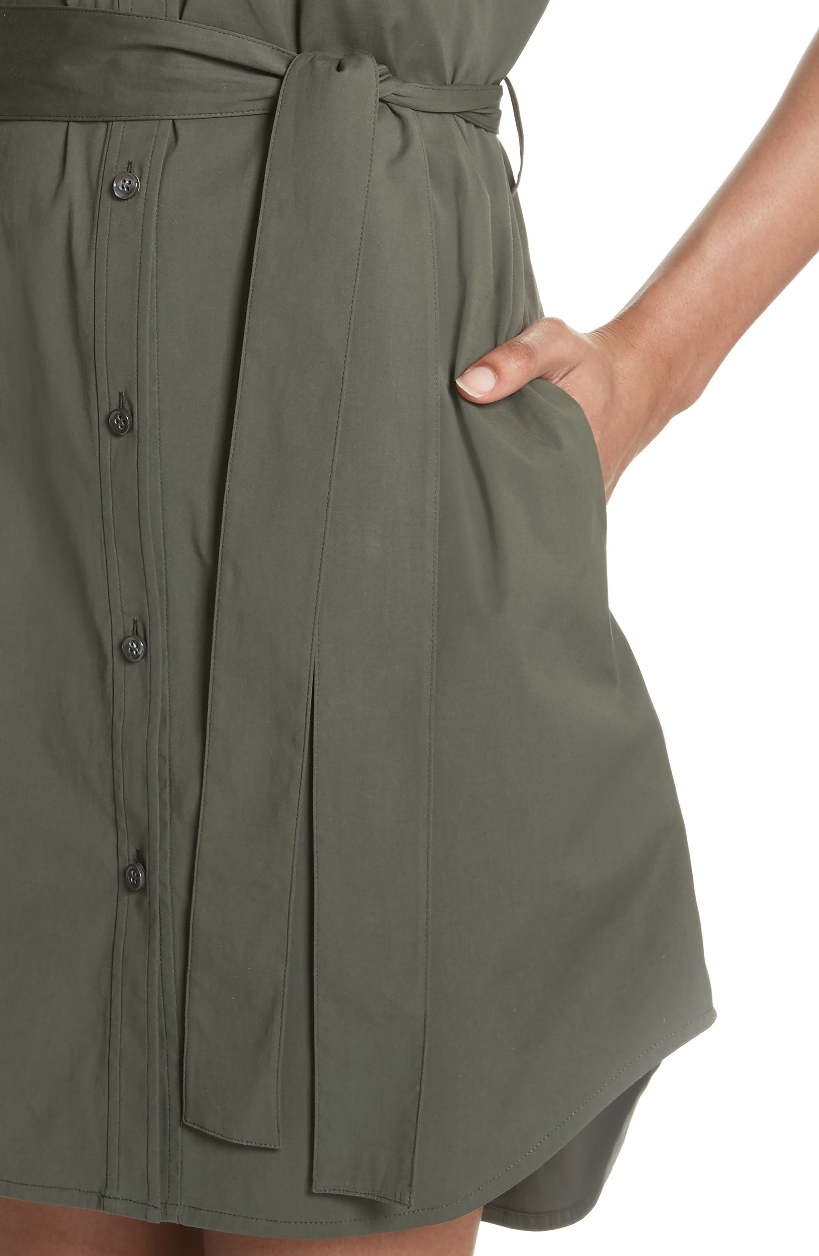Stretch Cotton Cargo Dress,                             Alternate thumbnail 4, color,                             300