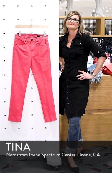 High Waist Ankle Cigarette Leg Jeans, sales video thumbnail