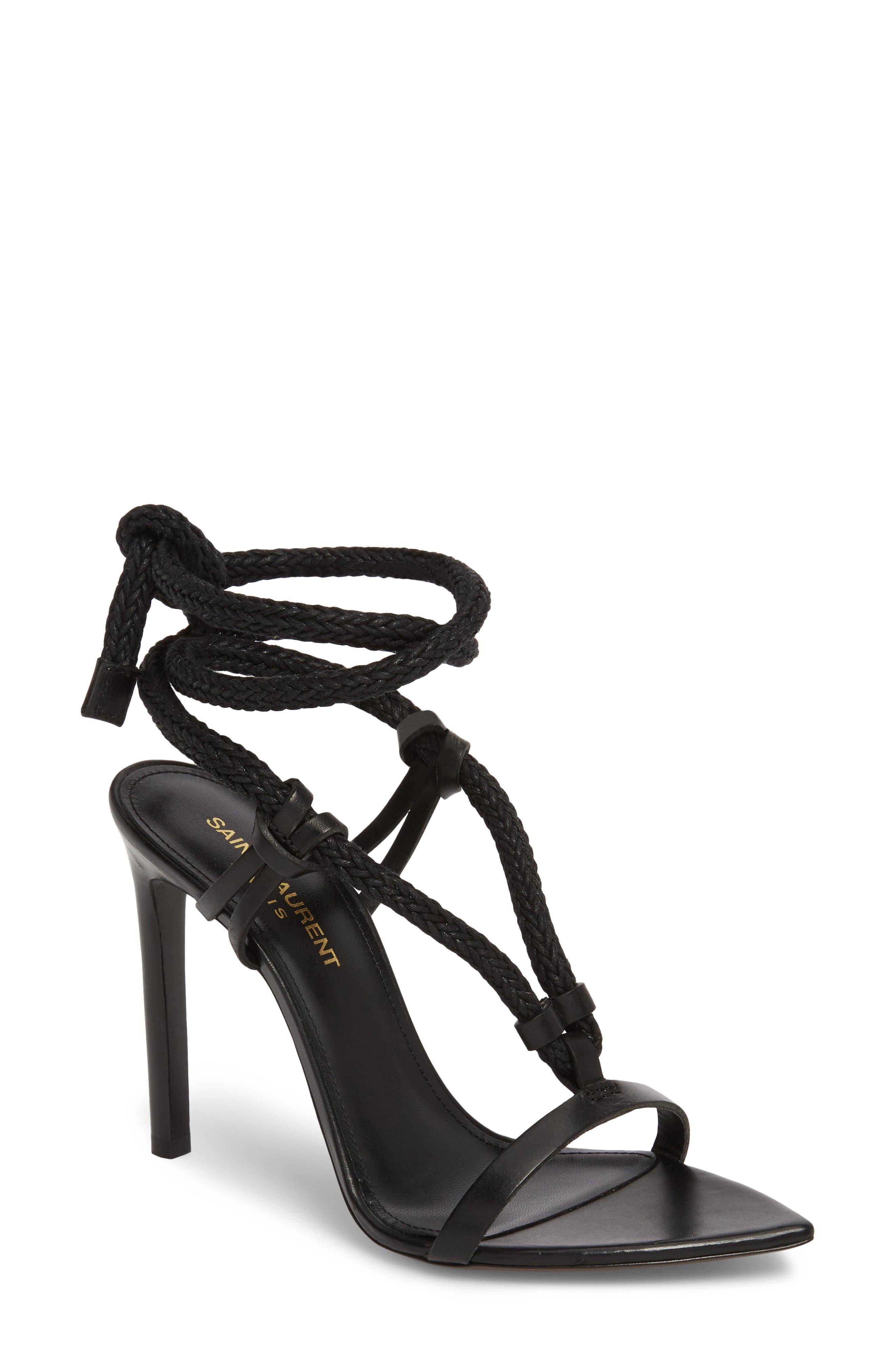 Majorelle Ankle Tie Sandal,                             Main thumbnail 1, color,                             001