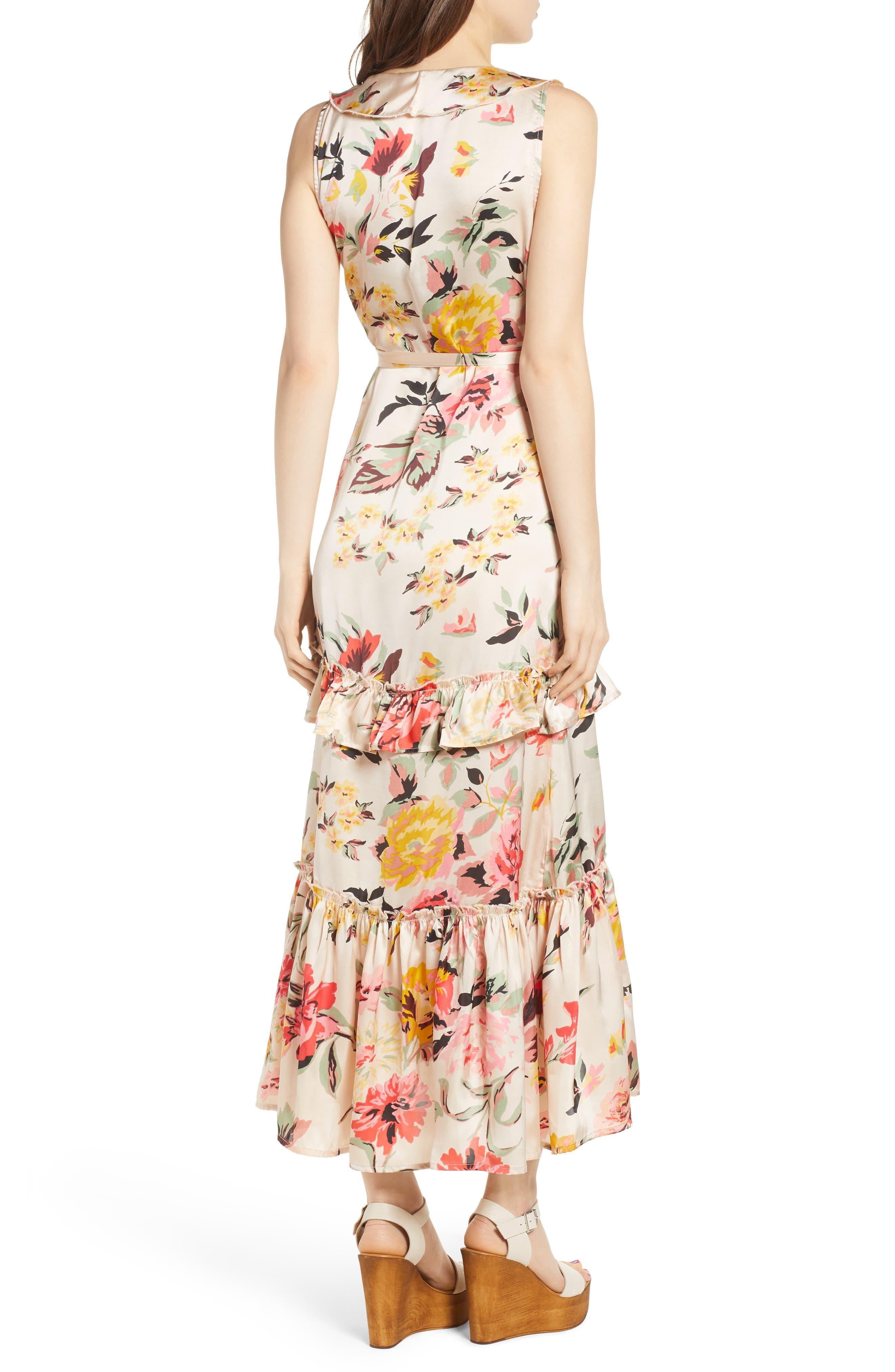 Ruffle Wrap Dress,                             Alternate thumbnail 6, color,