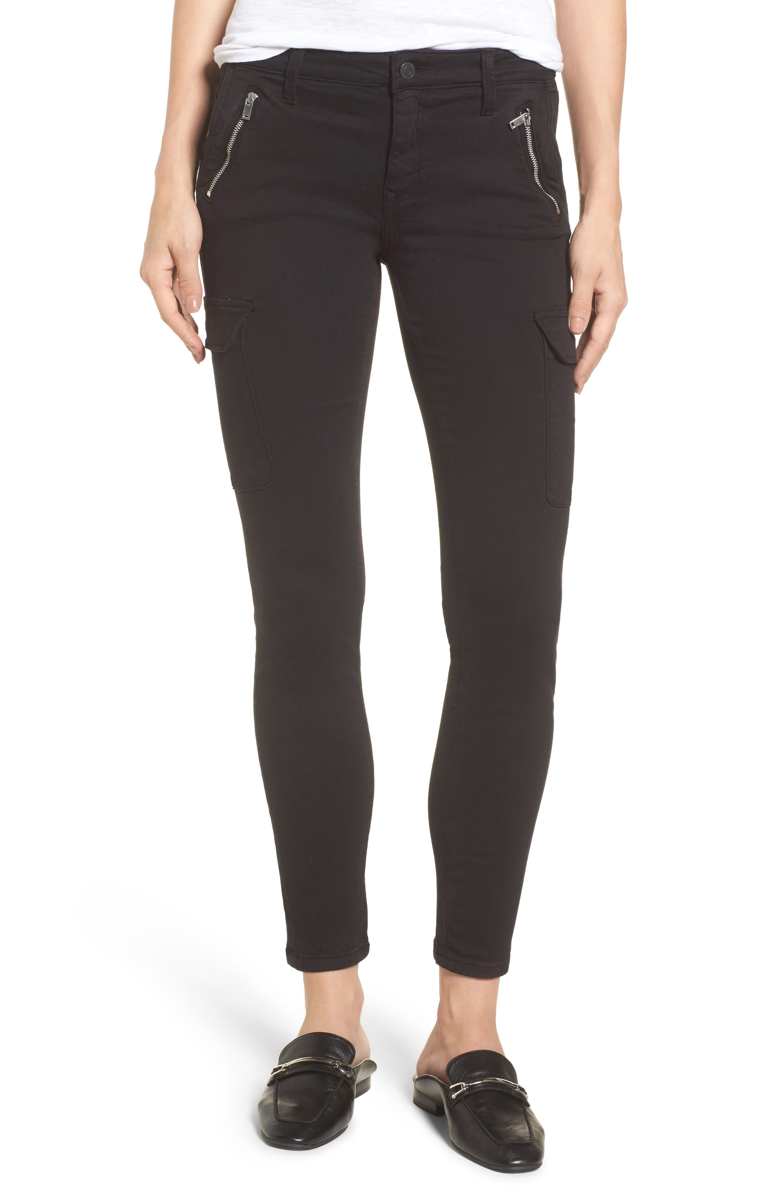Juliette Skinny Cargo Pants,                         Main,                         color, 001