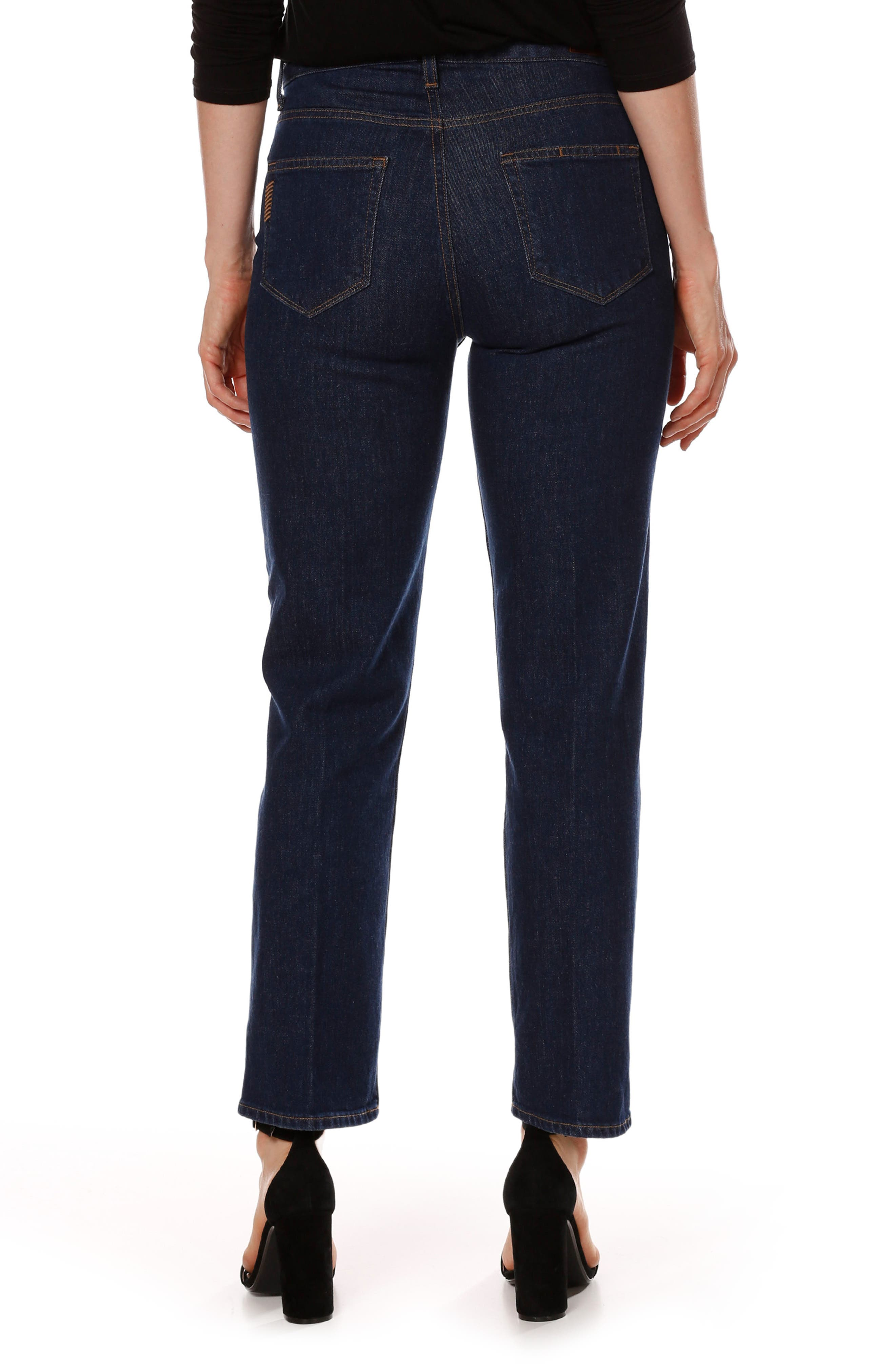 Sarah High Waist Ankle Straight Leg Jeans,                             Alternate thumbnail 2, color,                             400