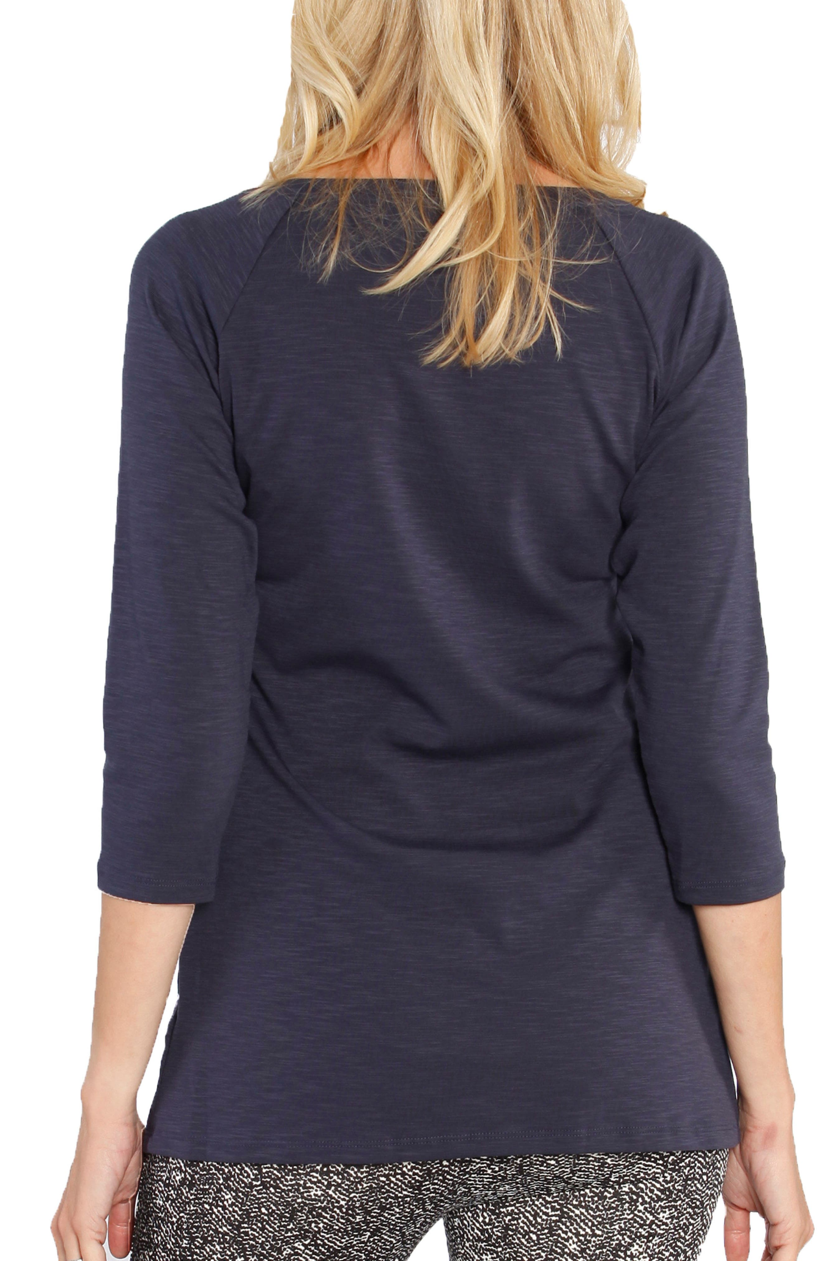 Stretch Jersey Maternity Top,                             Alternate thumbnail 2, color,                             NAVY