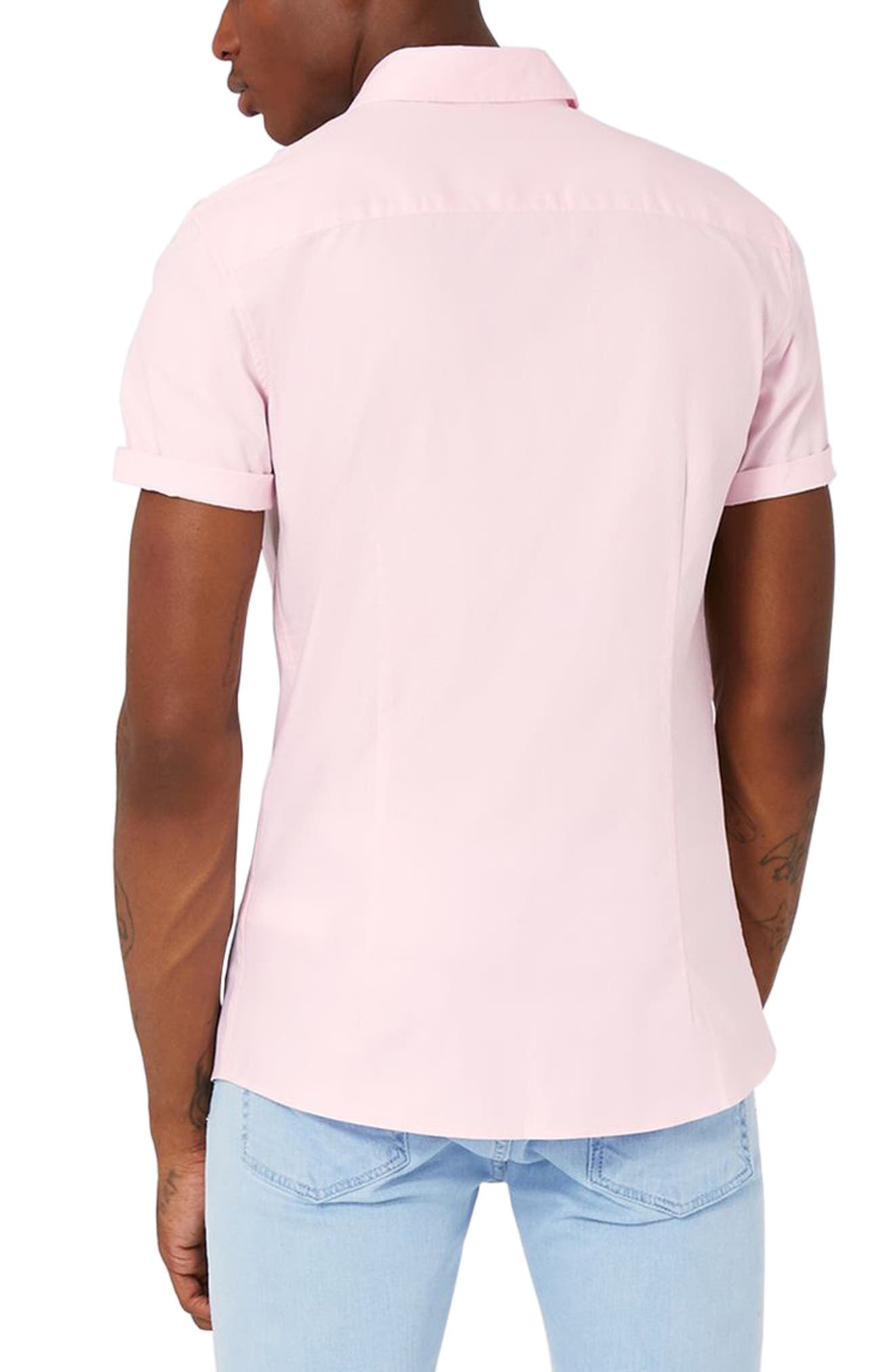 Slim Fit Stretch Oxford Shirt,                             Alternate thumbnail 3, color,