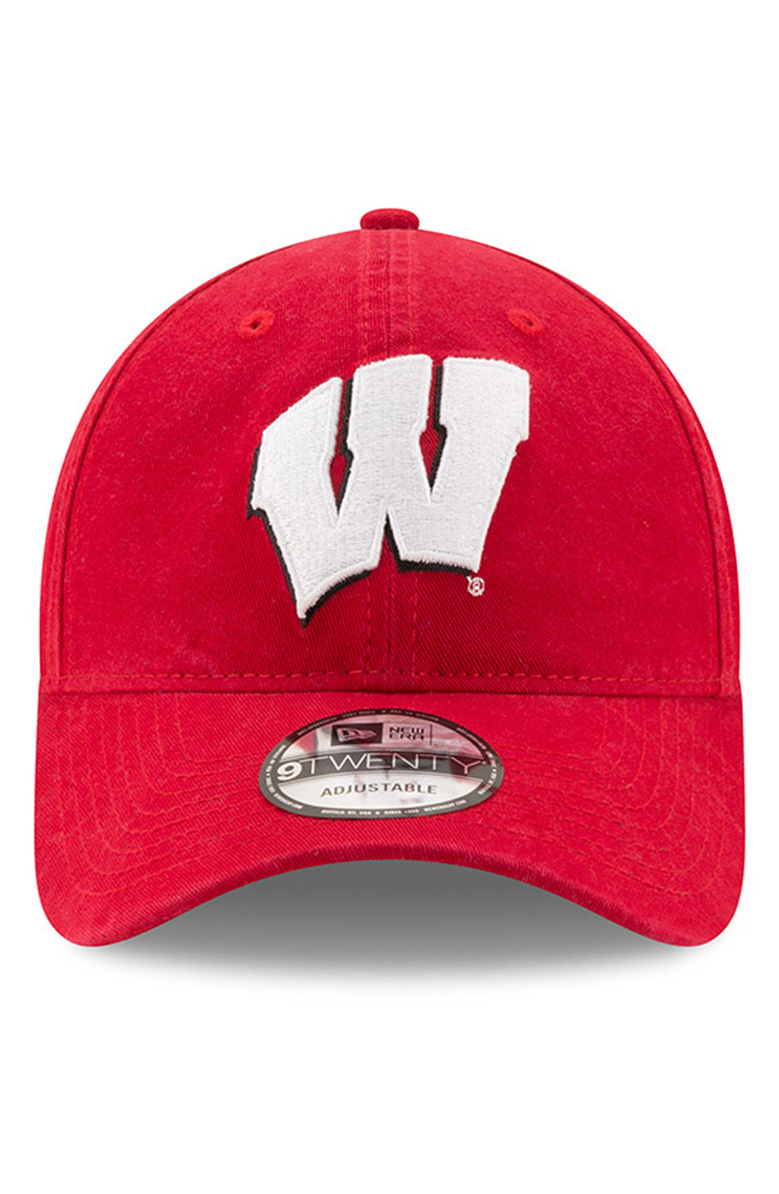 New Era Collegiate Core Classic - Wisconsin Badgers Baseball Cap,                             Alternate thumbnail 2, color,                             600