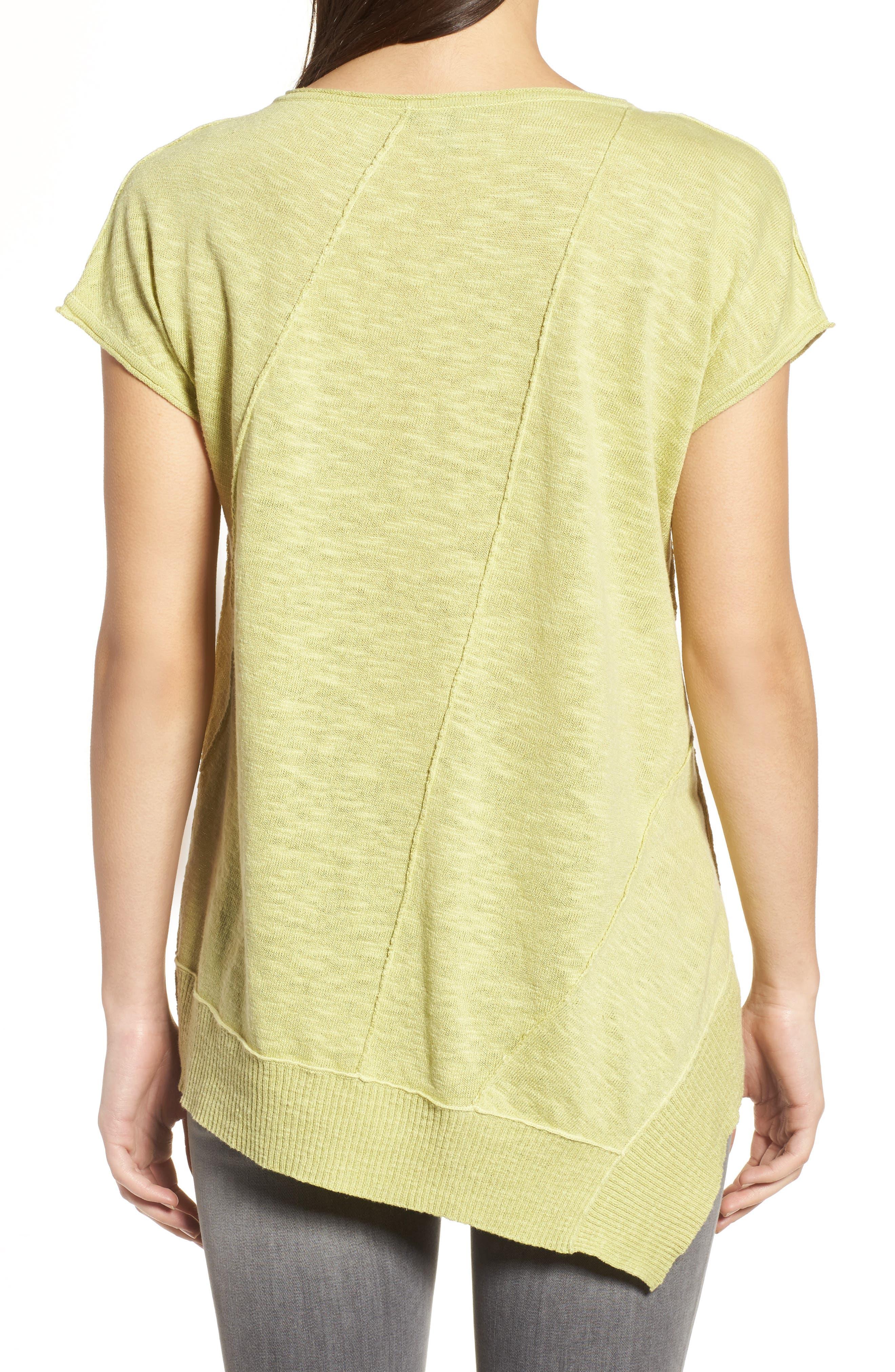 Cap Sleeve Organic Linen & Cotton Scoop Neck Top,                             Alternate thumbnail 24, color,