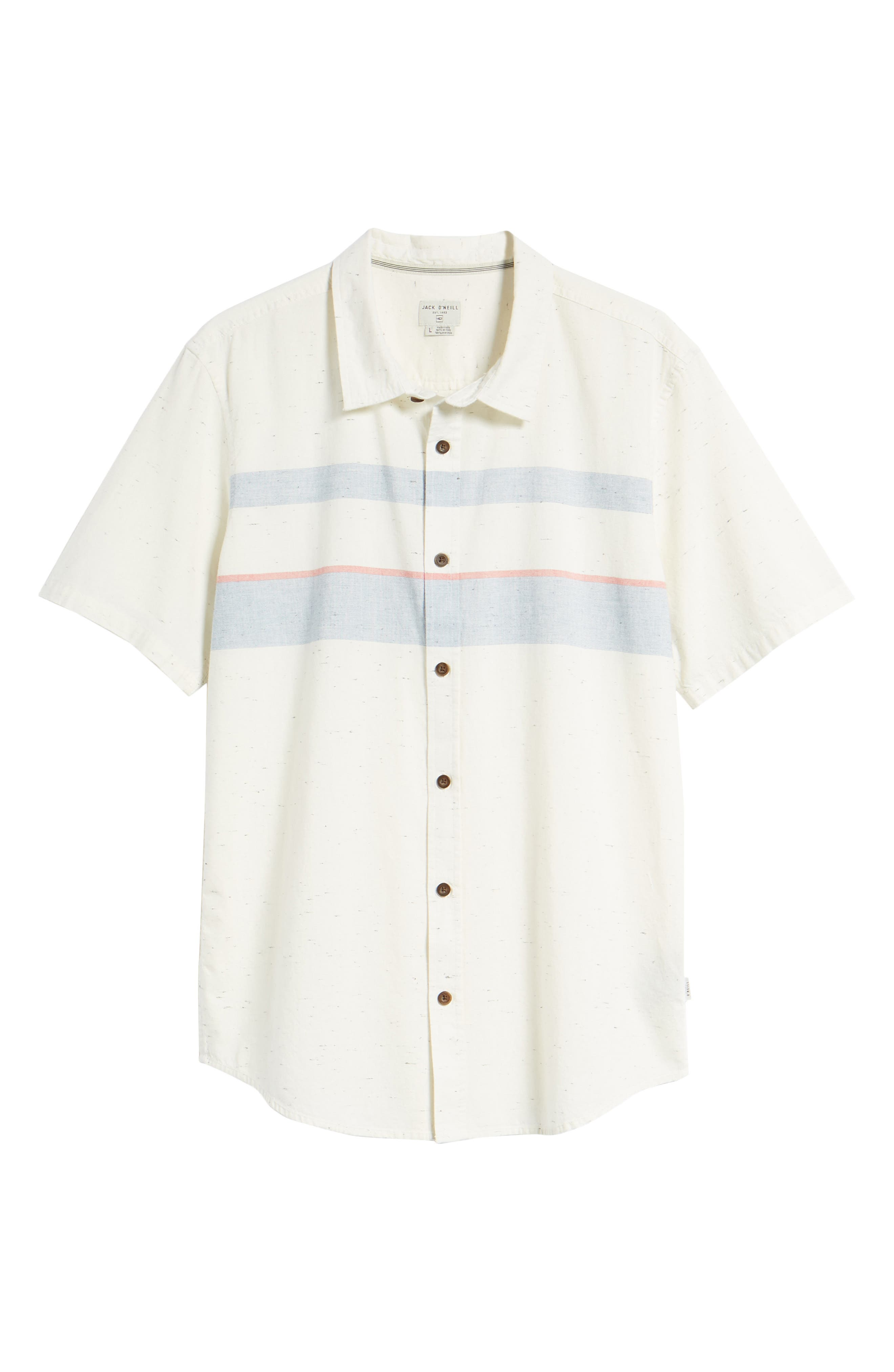 Charter Regular Fit Short Sleeve Sport Shirt,                             Alternate thumbnail 6, color,                             WHITE