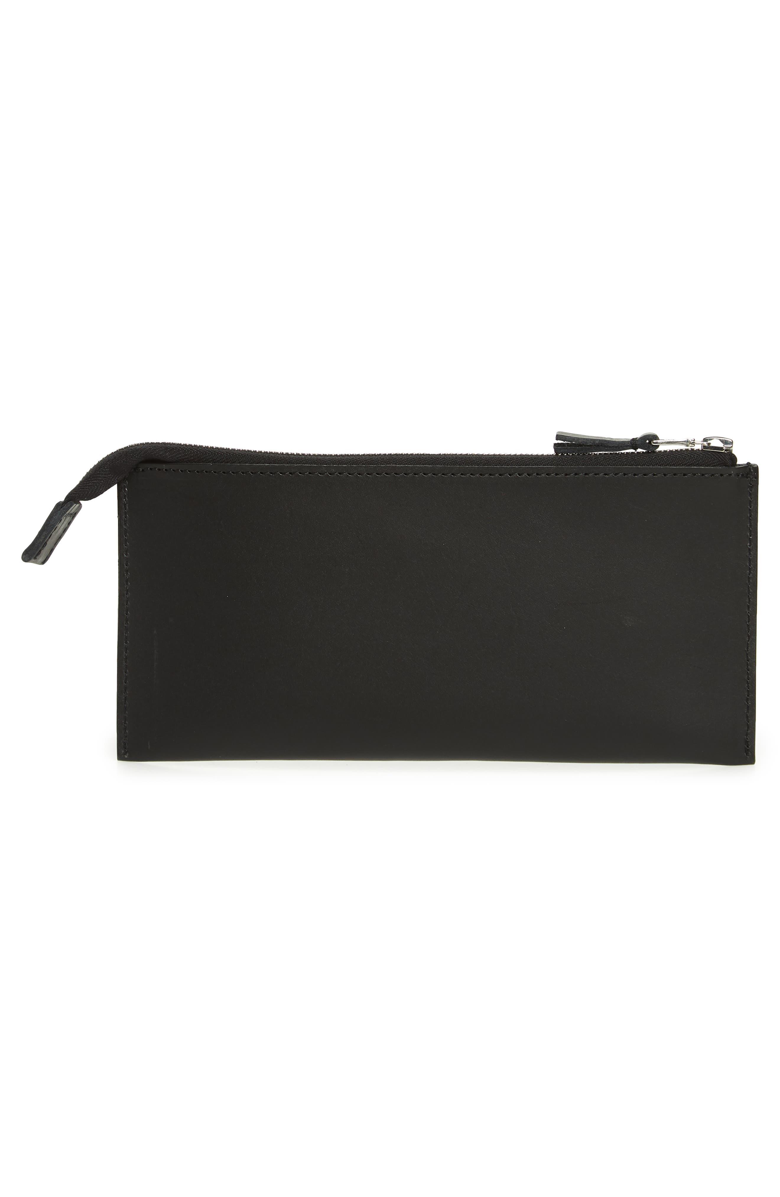 Kirk Zip wallet,                             Alternate thumbnail 3, color,                             BLACK