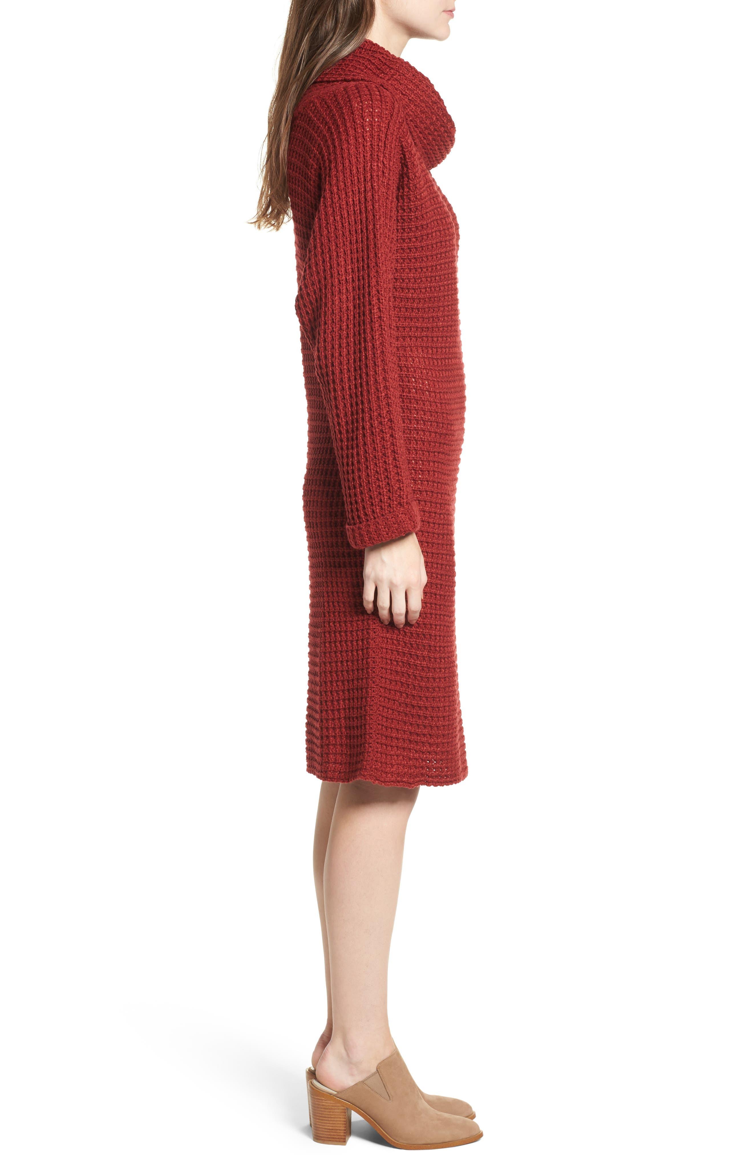 Turtleneck Sweater Dress,                             Alternate thumbnail 6, color,