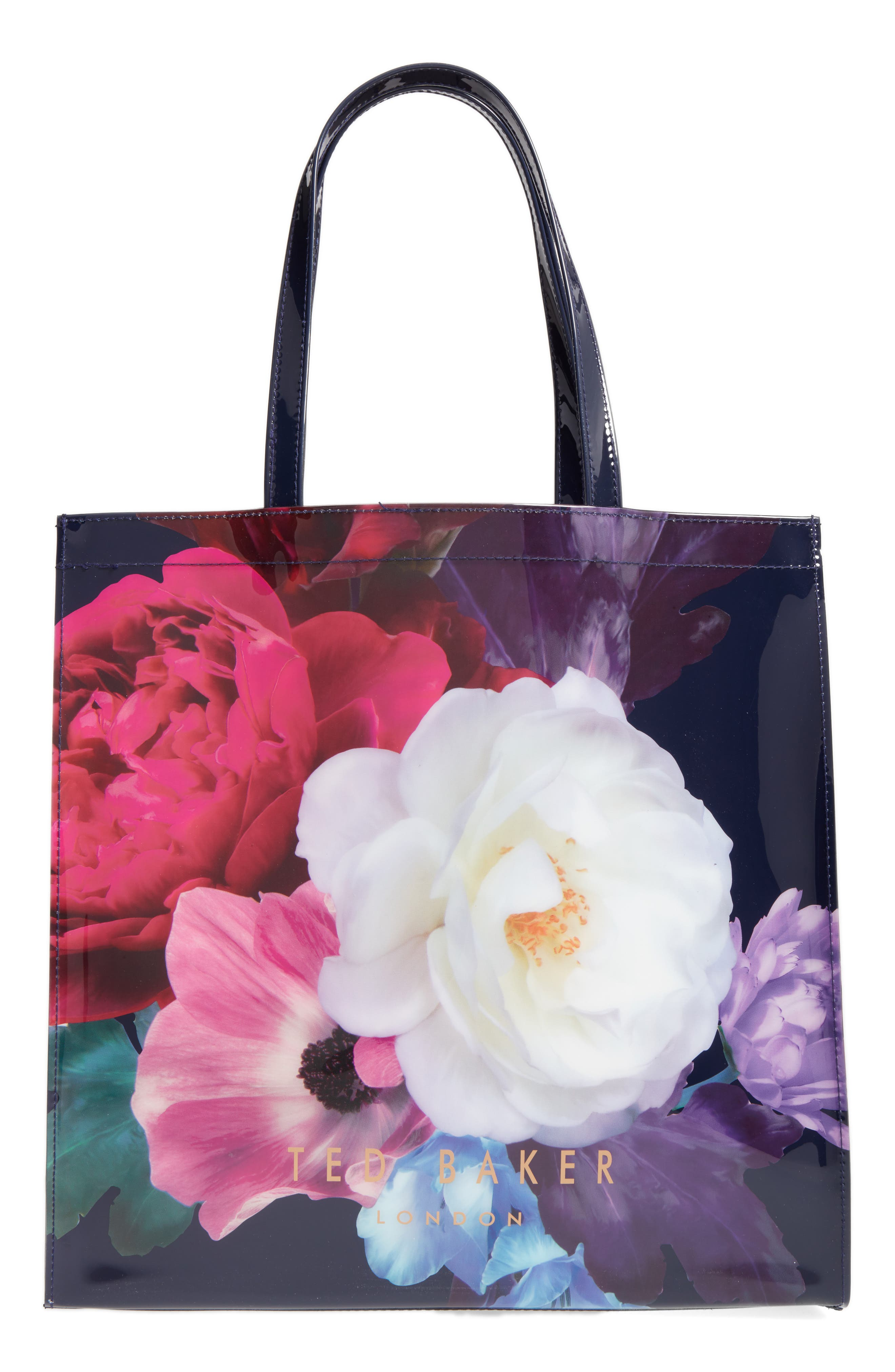 TED BAKER LONDON Blushing Bouquet Large Icon Tote, Main, color, 410