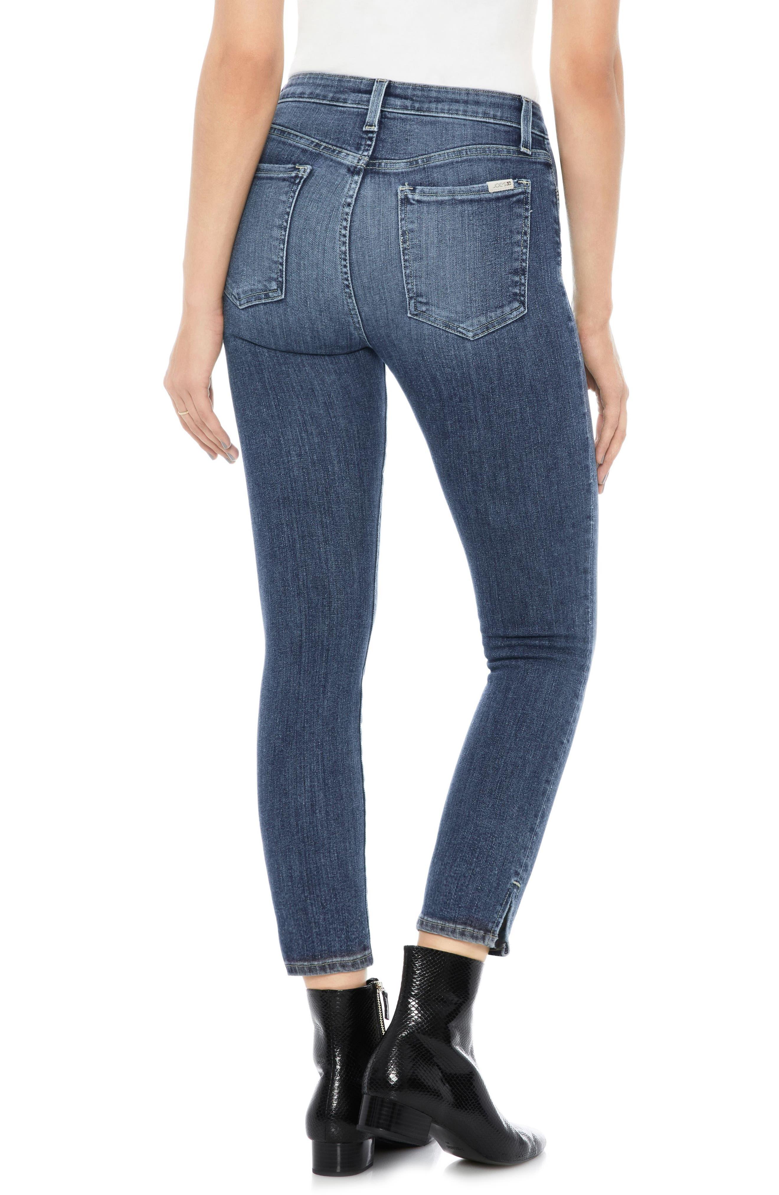 Flawless - Charlie High Waist Crop Skinny Jeans,                             Alternate thumbnail 2, color,                             ZARIA