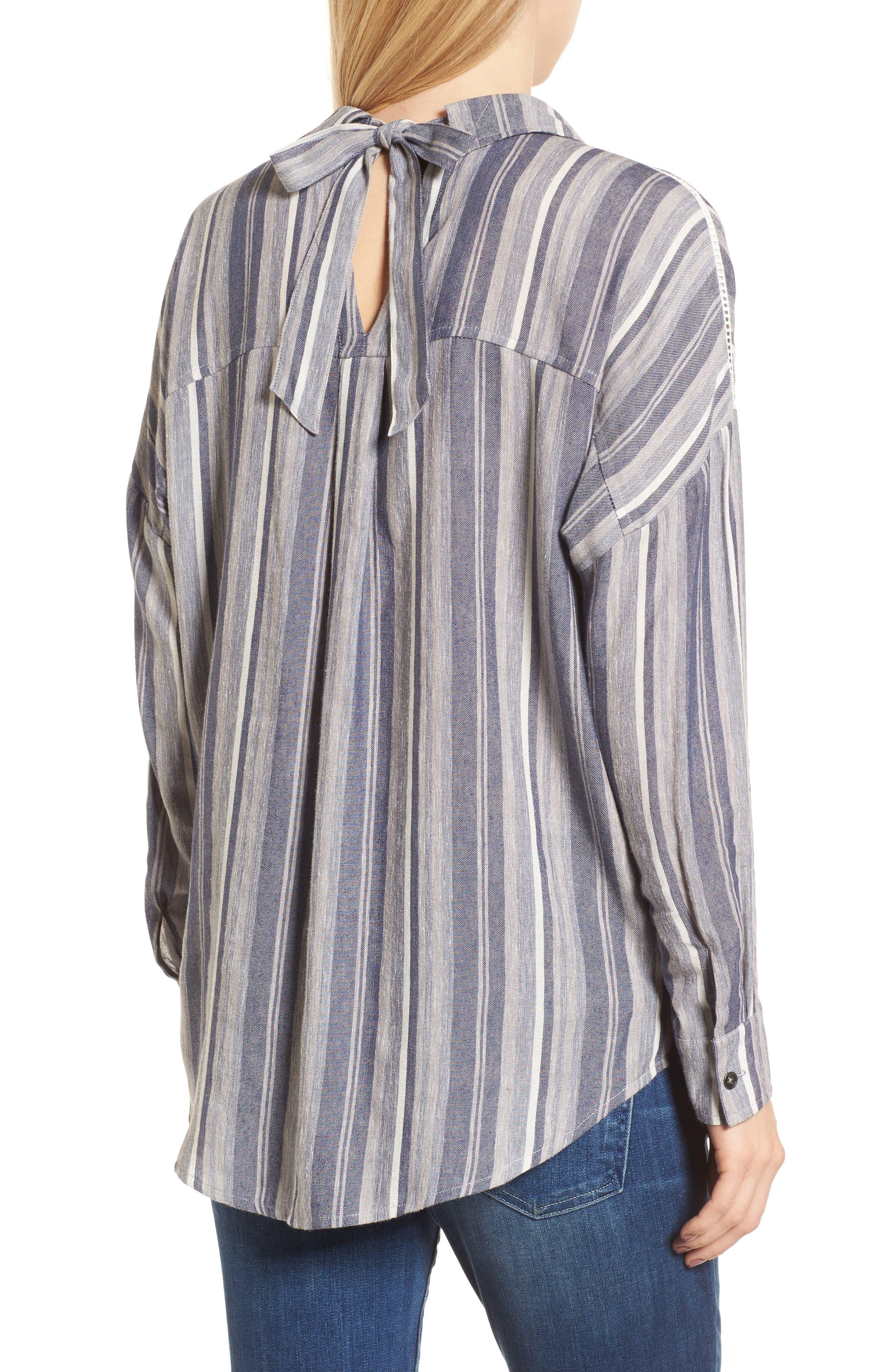 Stripe Chambray Shirt,                             Alternate thumbnail 2, color,                             466