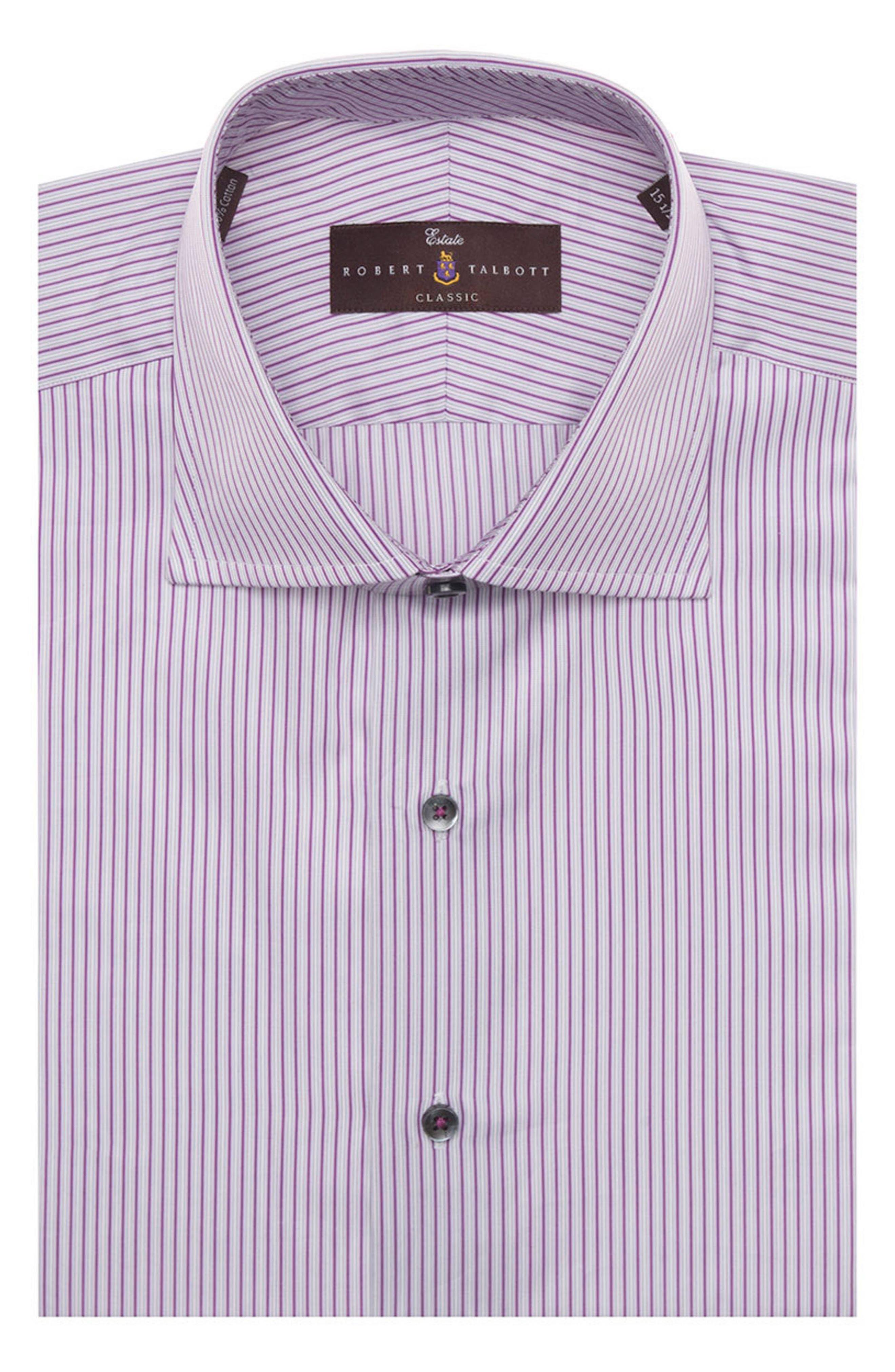 Tailored Fit Stripe Dress Shirt,                         Main,                         color, 542