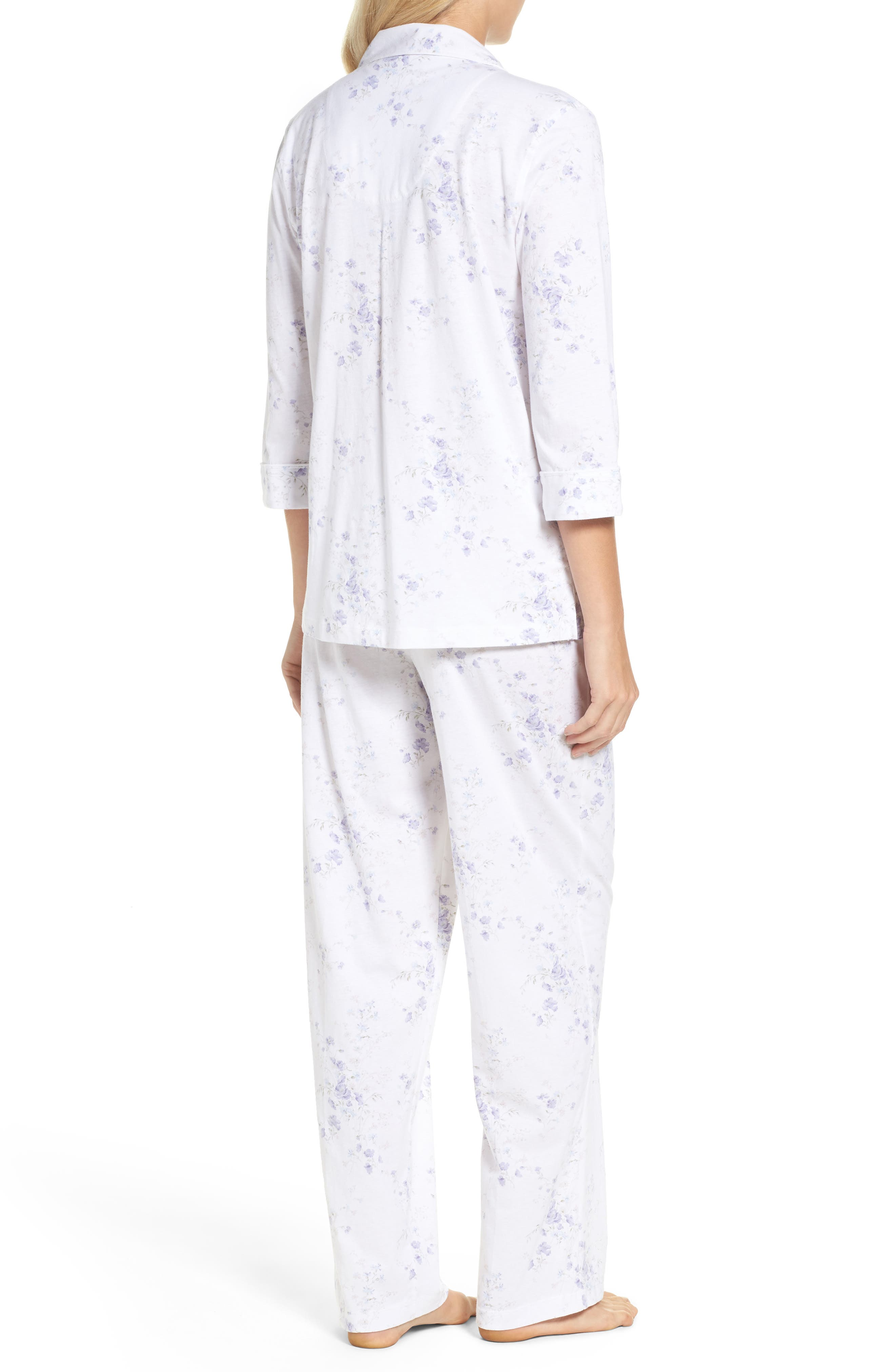 Notch Collar Pajamas,                             Alternate thumbnail 4, color,