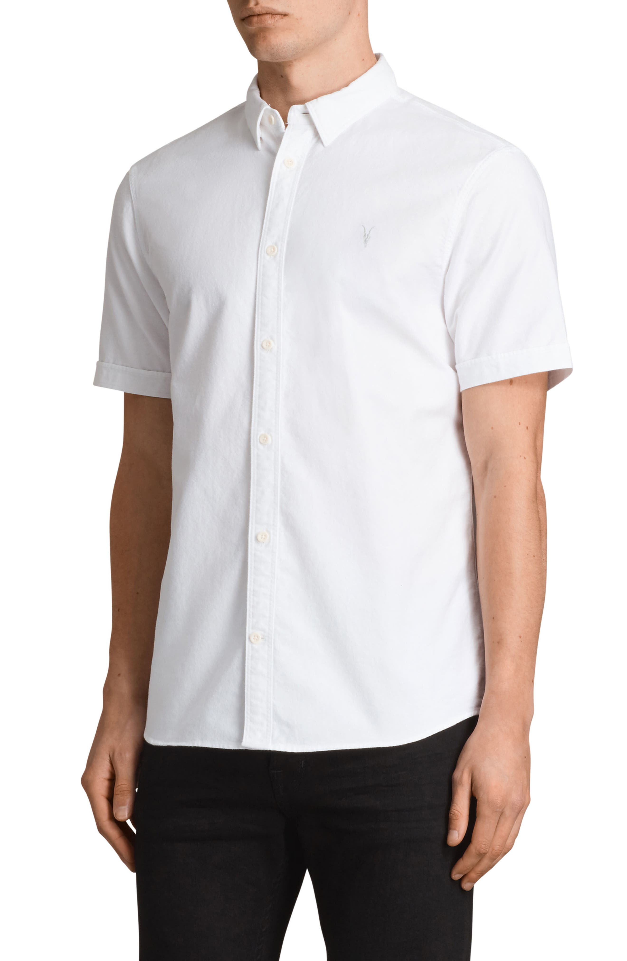 Huntington Regular Fit Short Sleeve Sport Shirt,                             Alternate thumbnail 13, color,