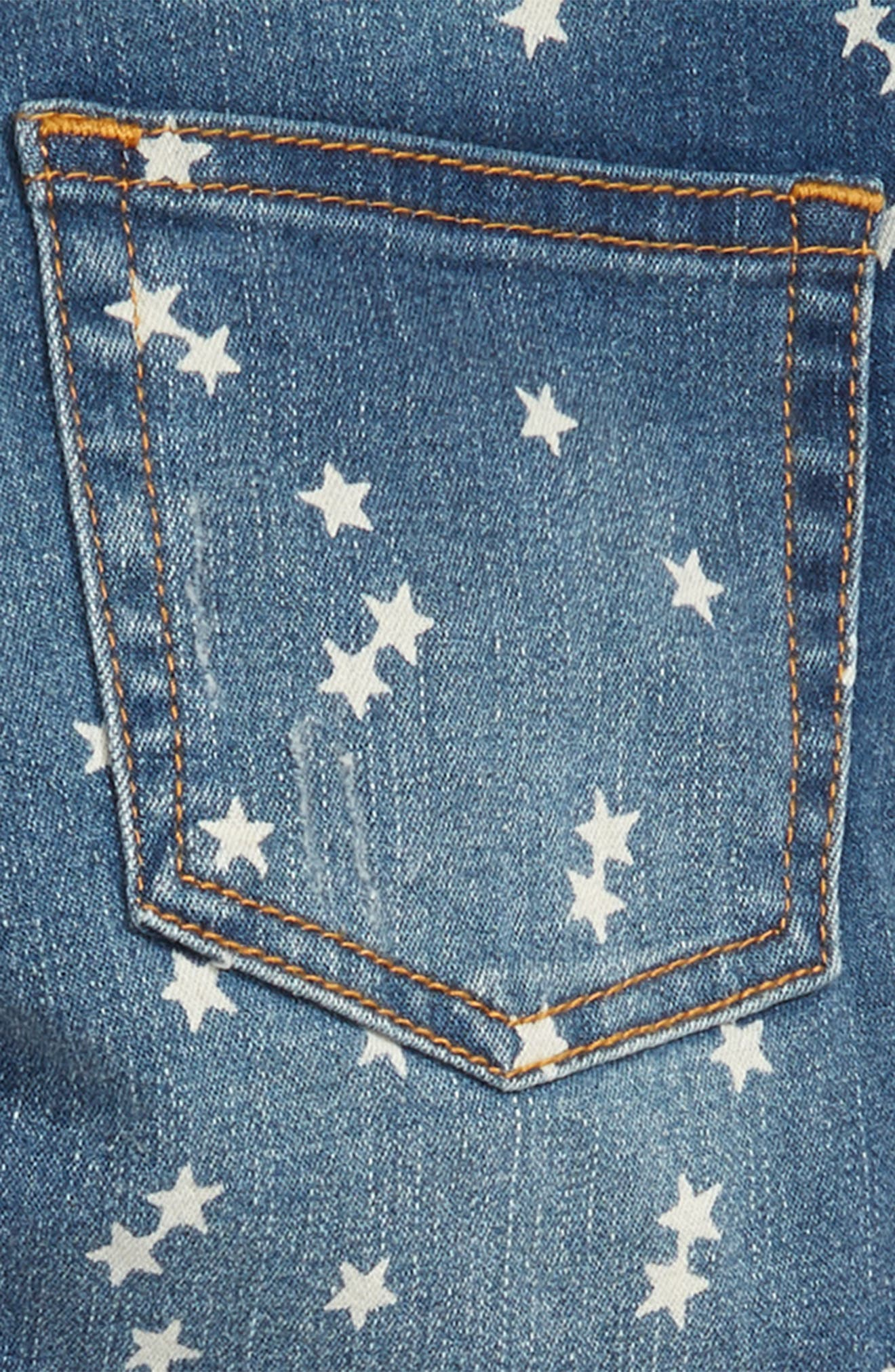 Star-Print Denim Jeans,                             Alternate thumbnail 3, color,                             WP1522  RYE WASH