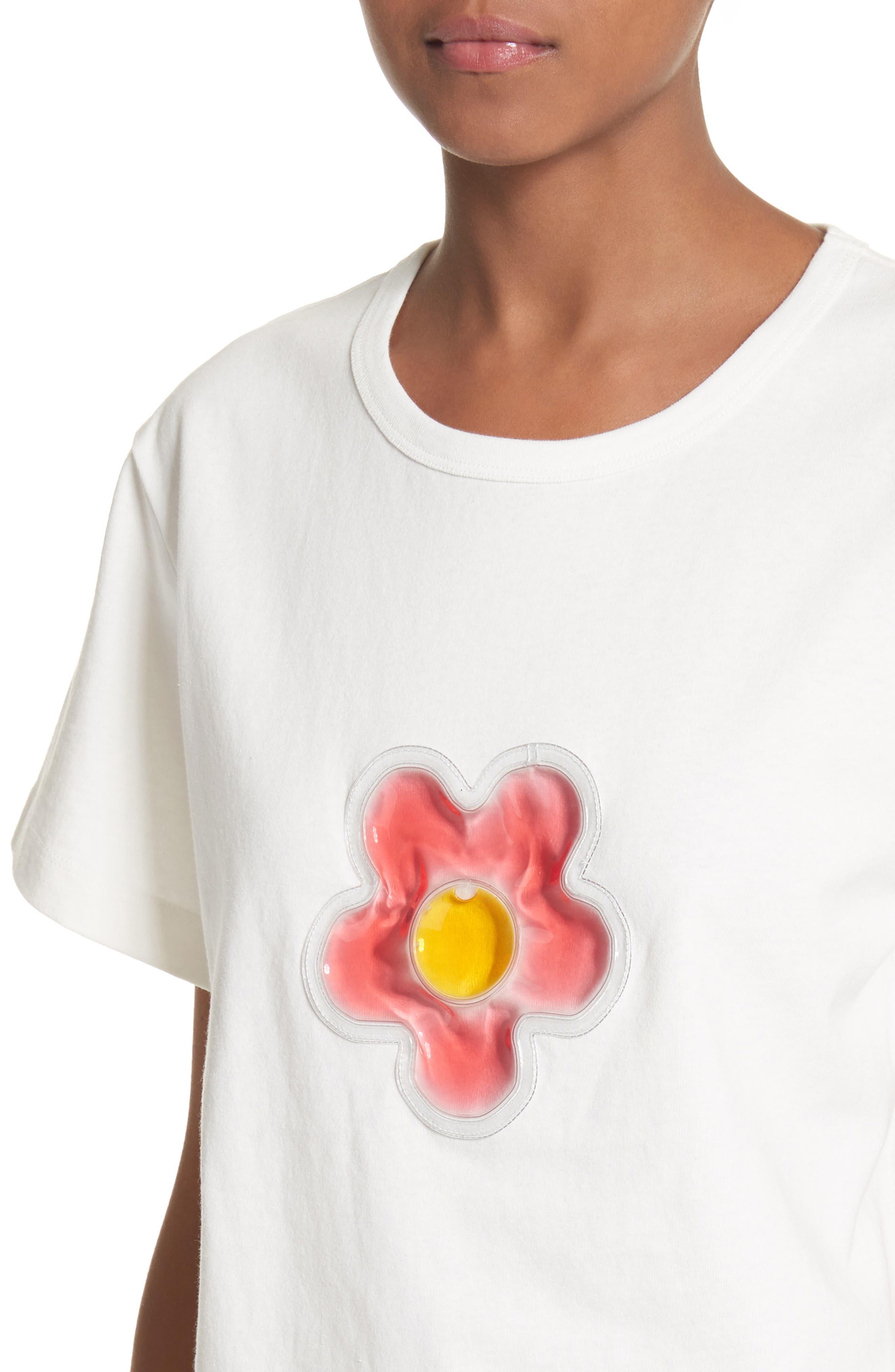 Colby Flower Tee,                             Alternate thumbnail 4, color,                             100