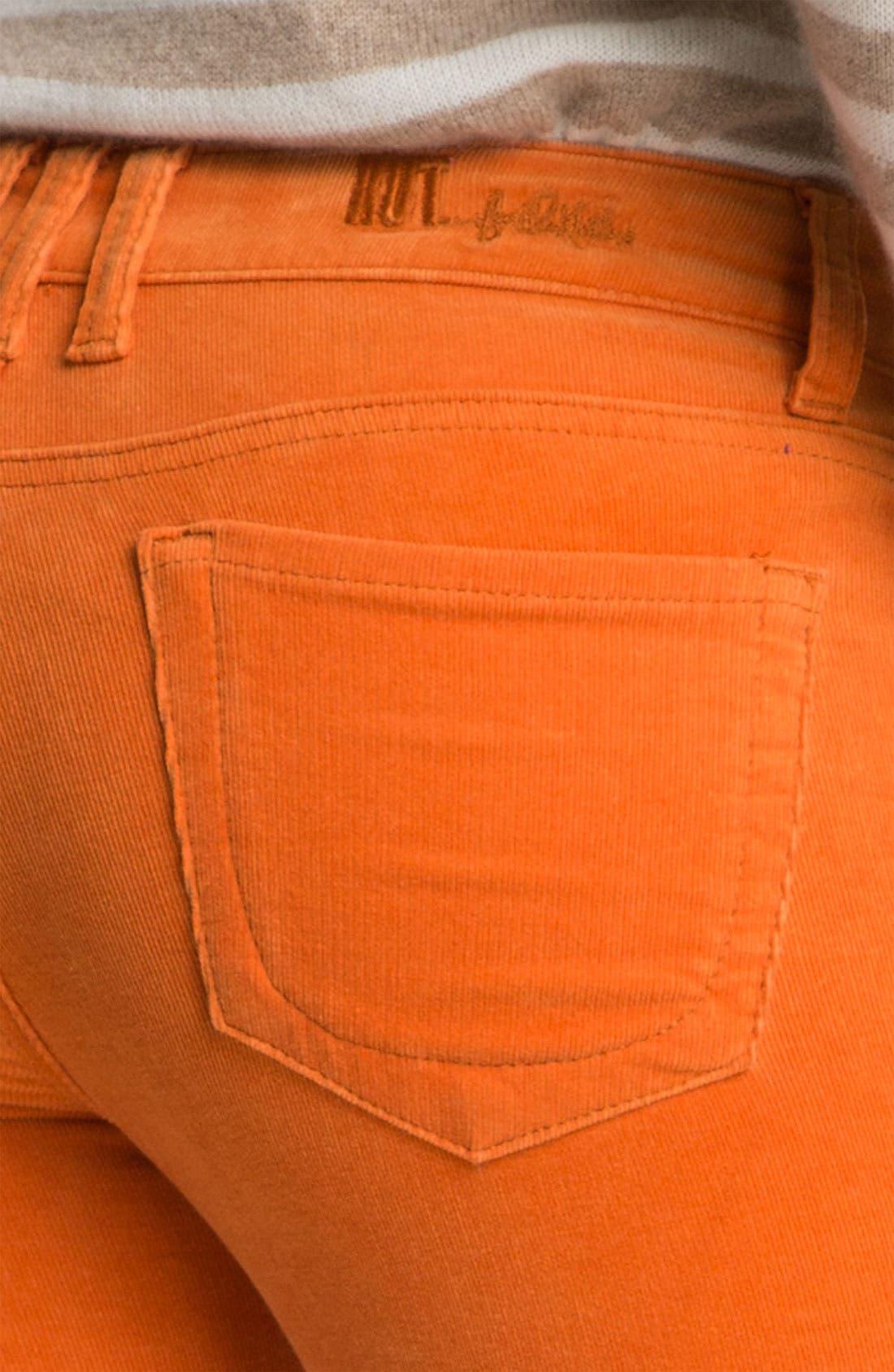 'Diana' Stretch Corduroy Skinny Pants,                             Alternate thumbnail 100, color,