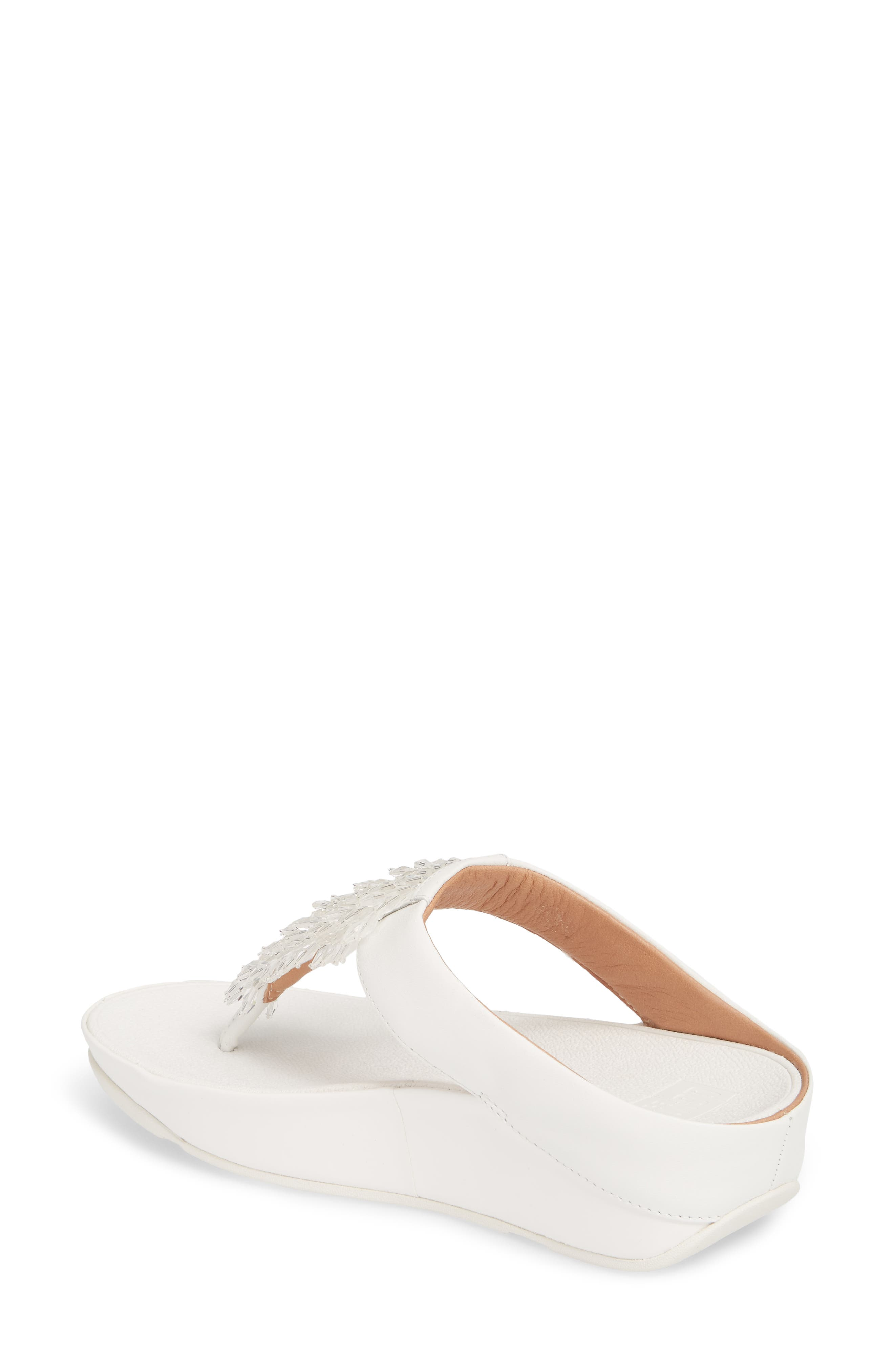 FITFLOP,                             Rumba Sandal,                             Alternate thumbnail 2, color,                             URBAN WHITE LEATHER