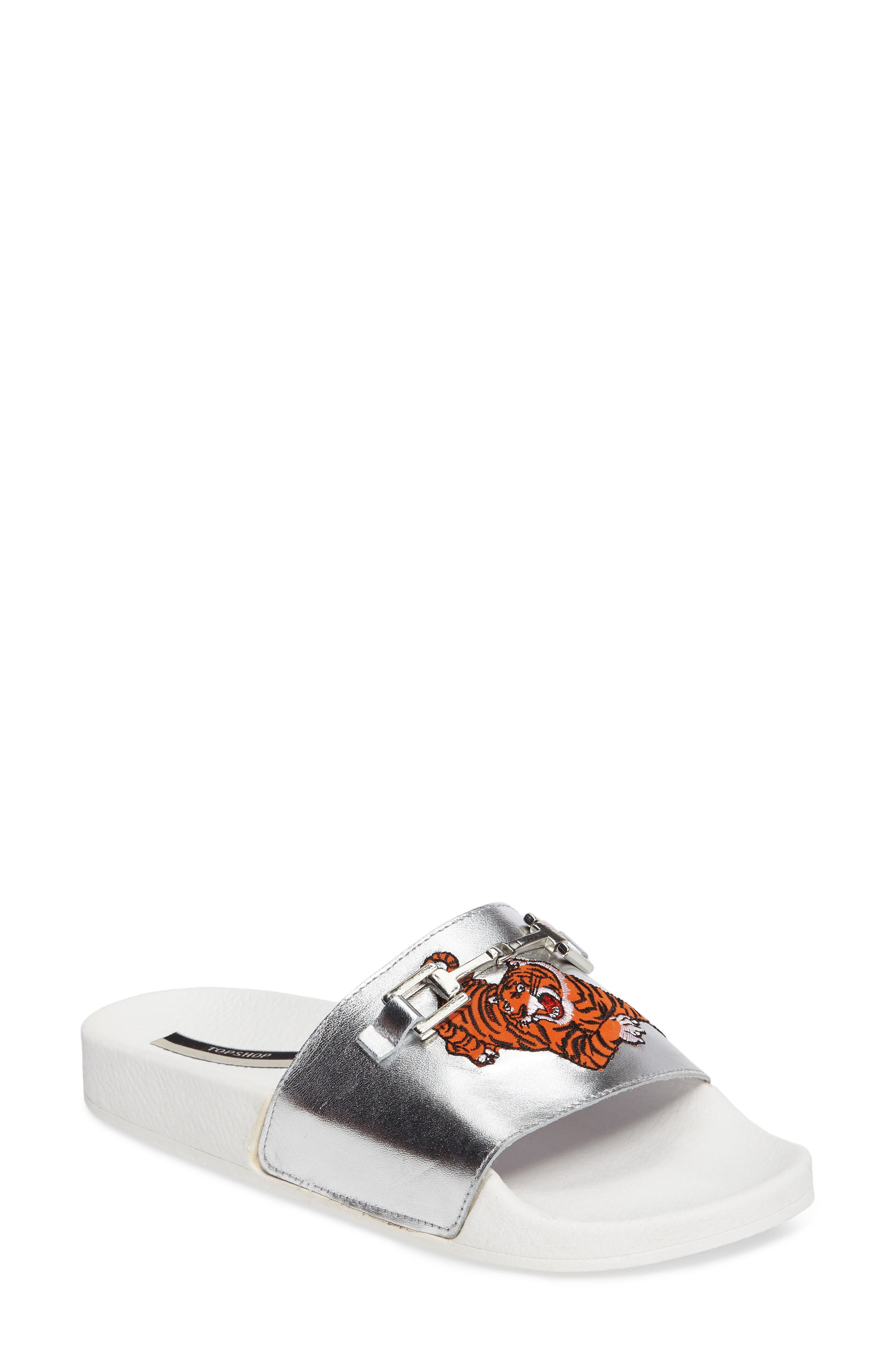 Fierce Embroidered Slide Sandal,                         Main,                         color, 040