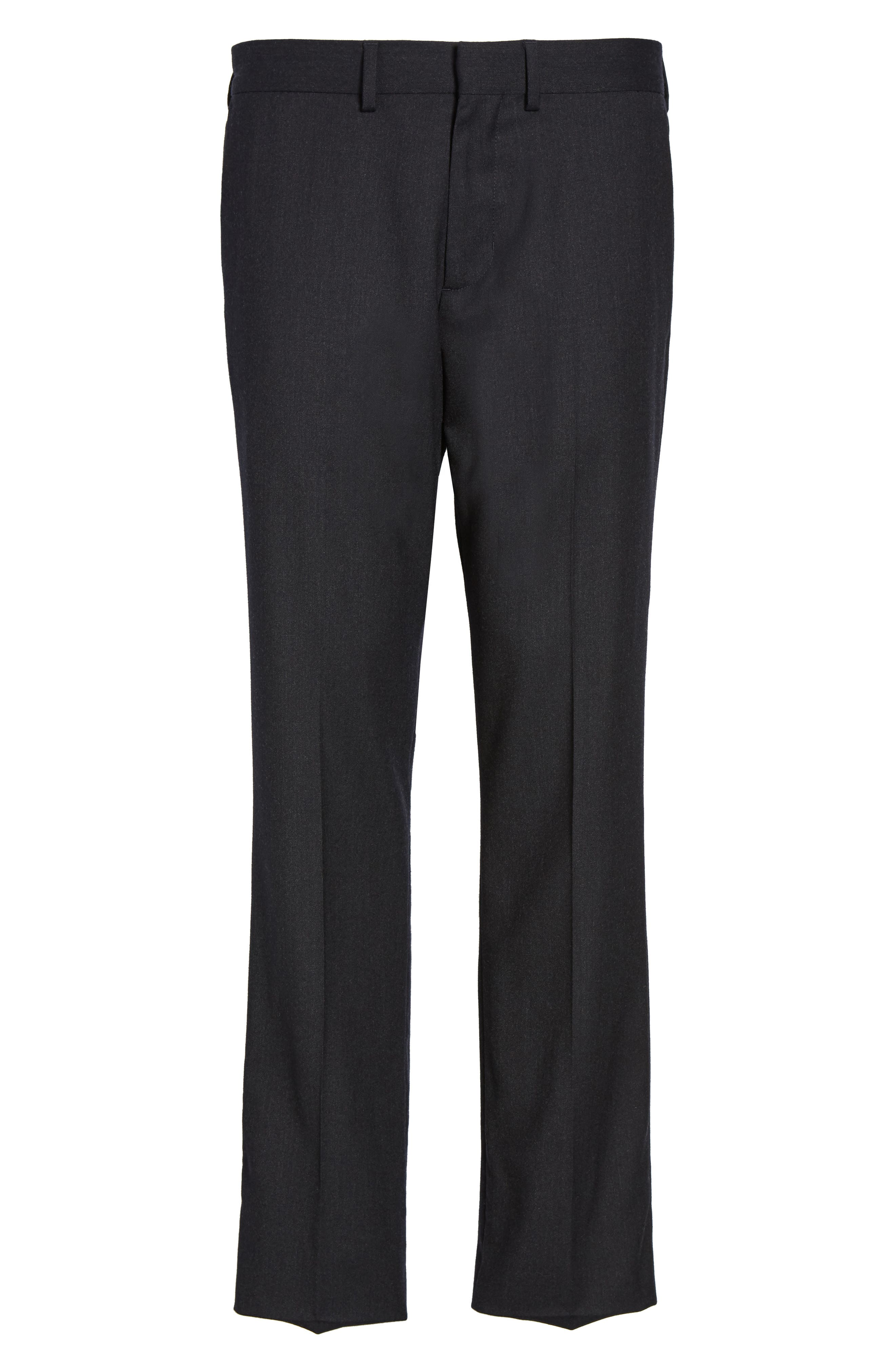 Regular Fit Wool Trousers,                             Alternate thumbnail 6, color,                             021