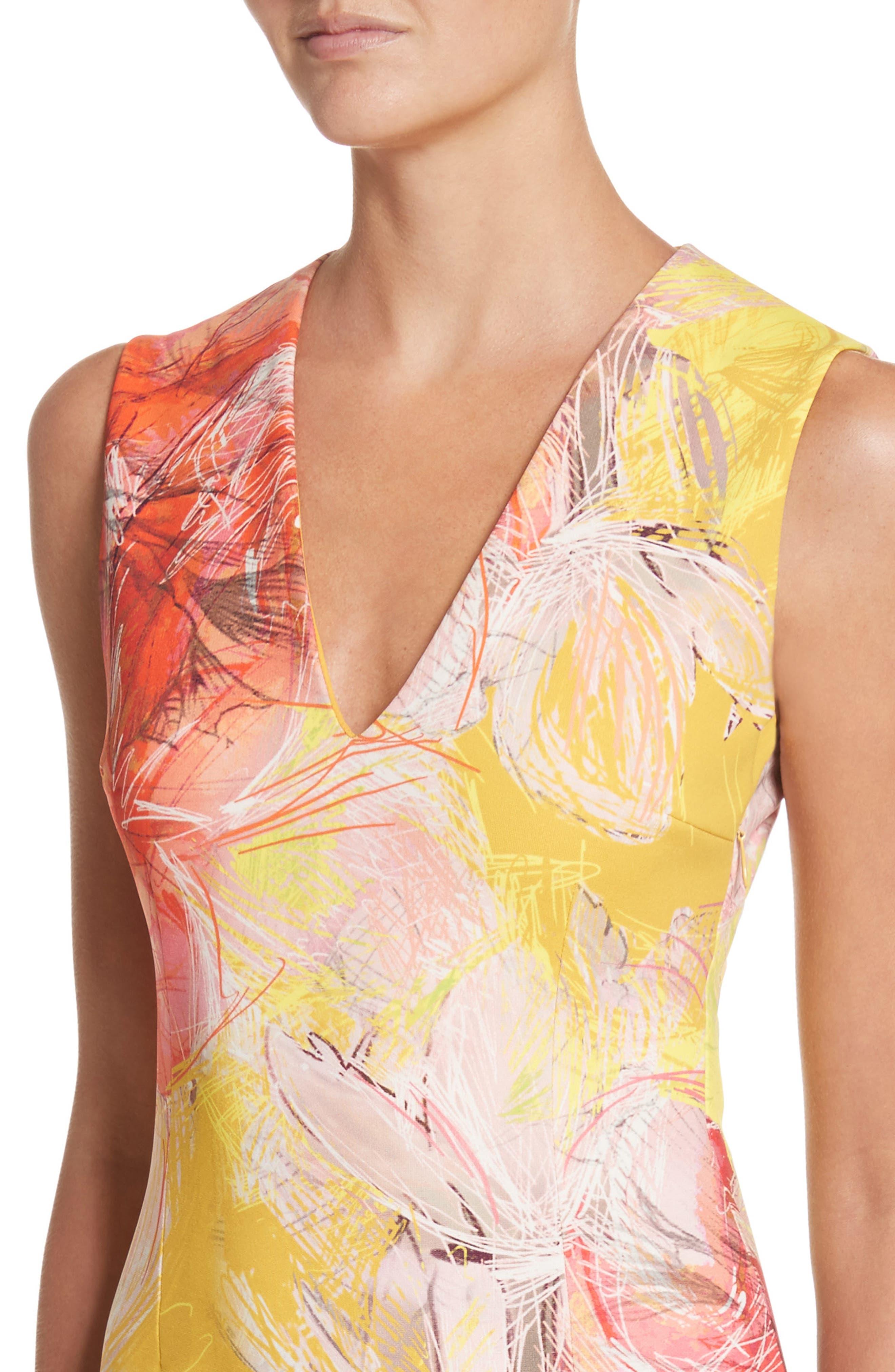 Print Sheath Dress,                             Alternate thumbnail 8, color,
