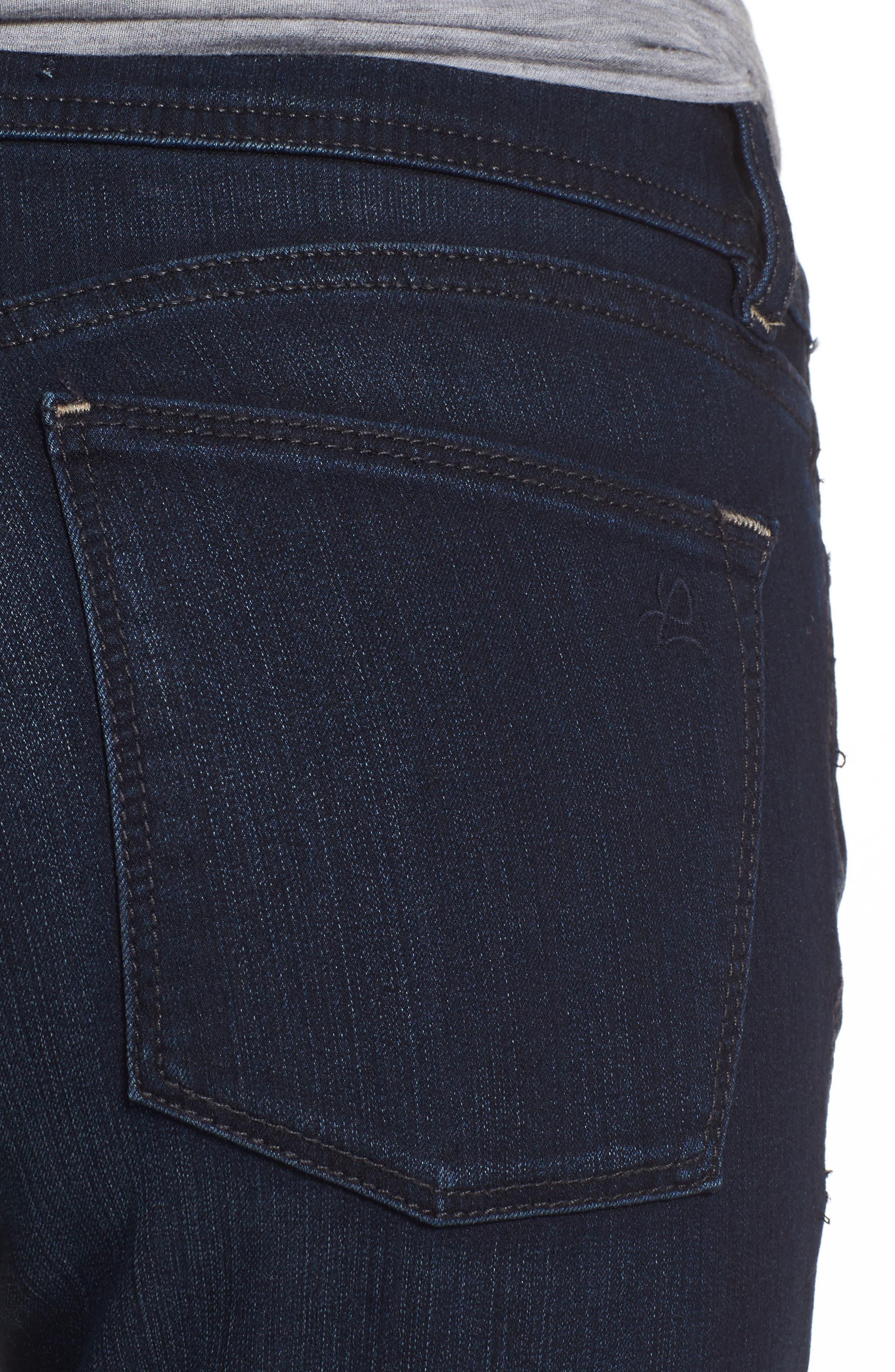 'Grace' Straight Jeans,                             Alternate thumbnail 4, color,                             405