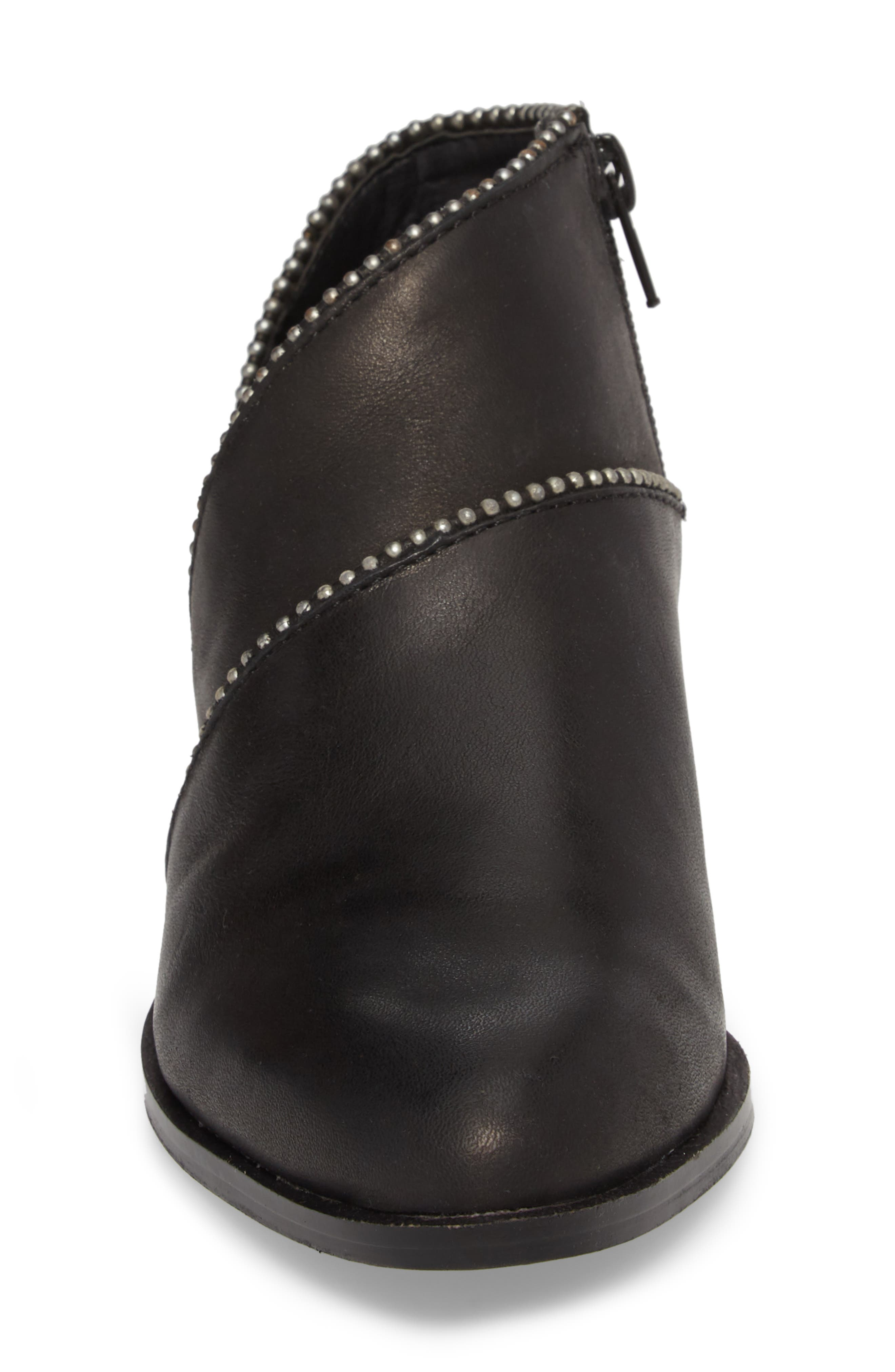 Prucella Bootie,                             Alternate thumbnail 4, color,                             BLACK LEATHER
