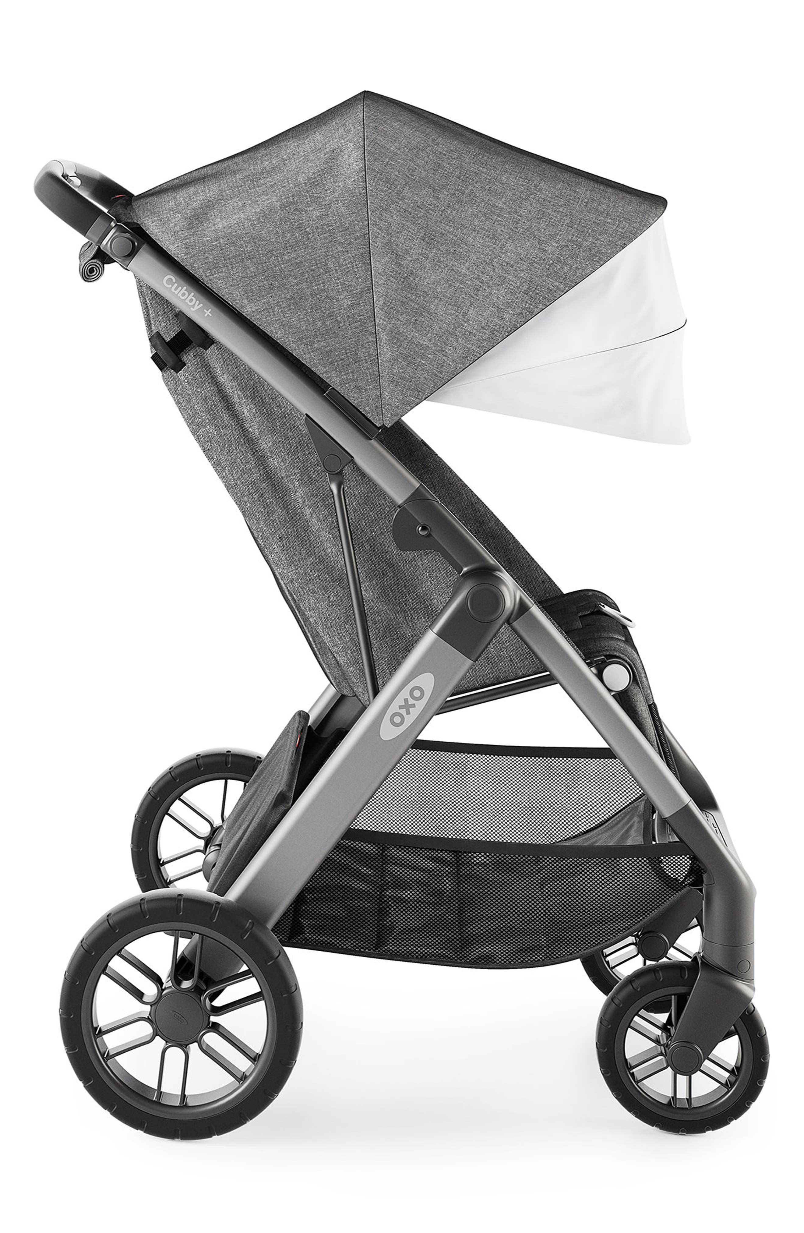 Cubby+ Stroller,                             Alternate thumbnail 3, color,                             HEATHER GRAY