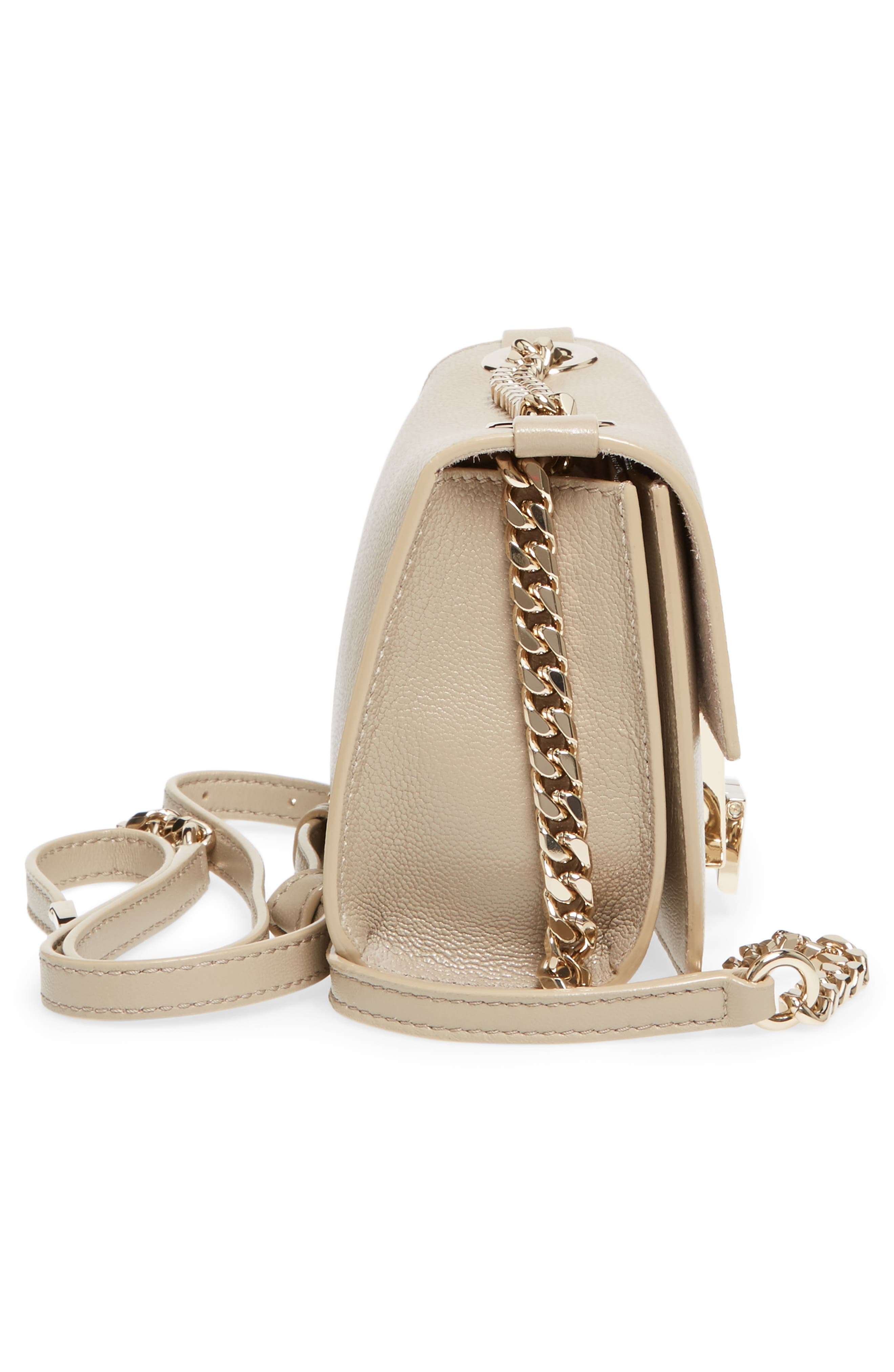 Mini Rebel Leather Crossbody Bag,                             Alternate thumbnail 5, color,                             201