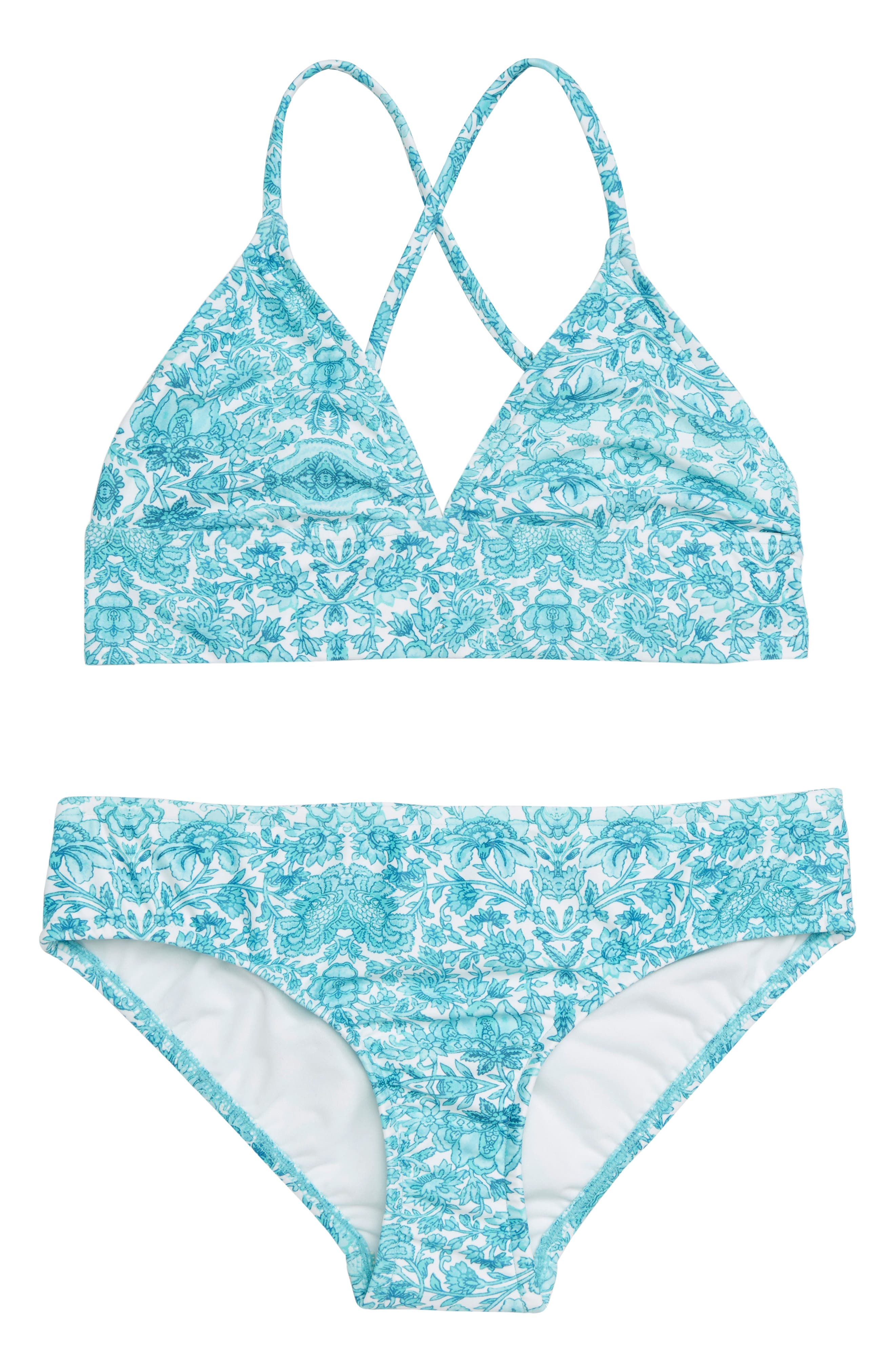 Ocean Tapestry Two-Piece Swimsuit,                             Main thumbnail 1, color,                             400